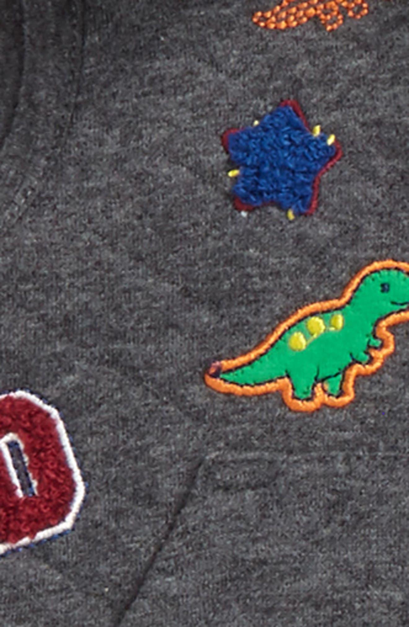Alternate Image 2  - Little Me Dino Vest, Bodysuit & Pants Set (Baby Boys)