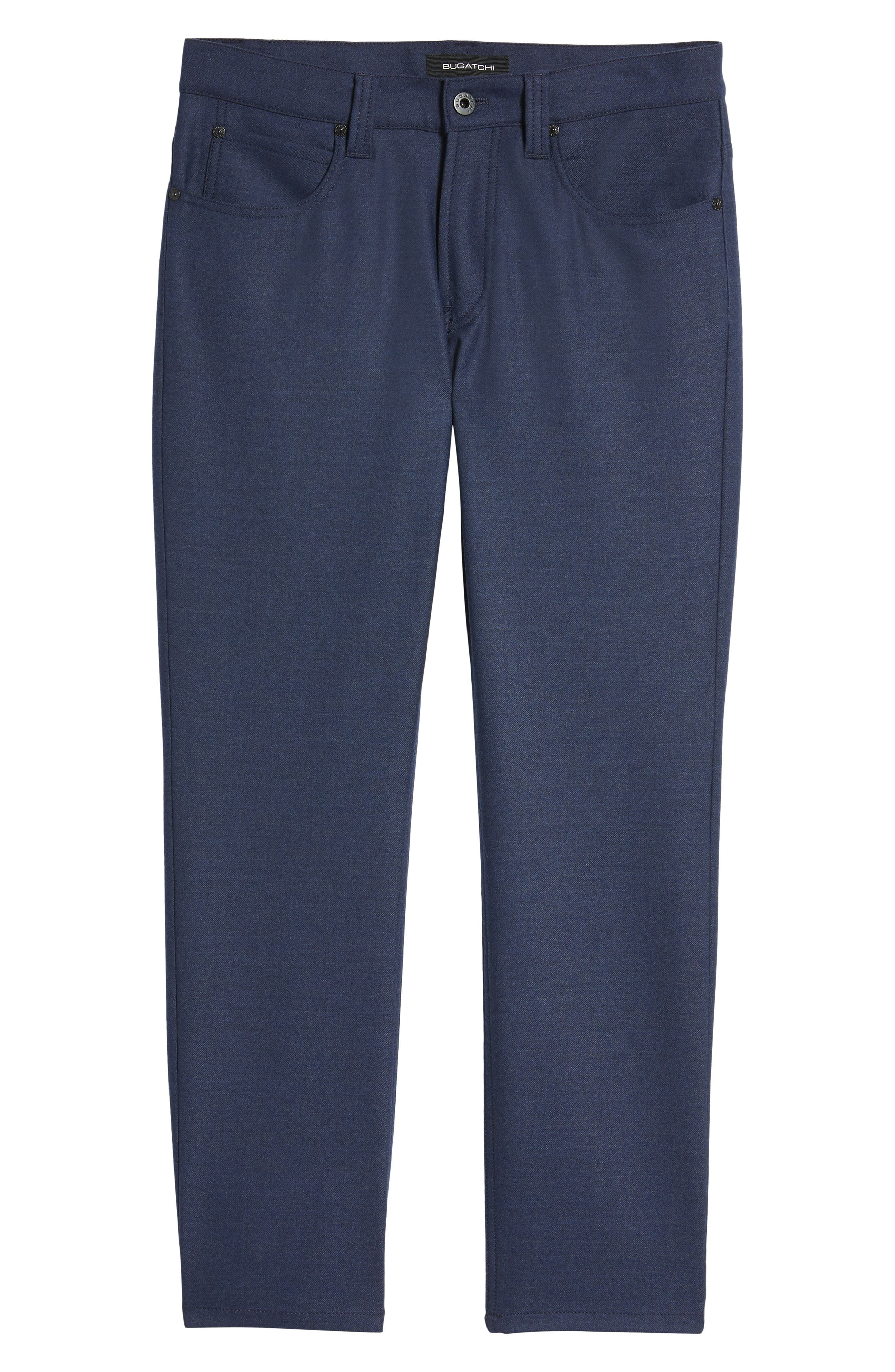 Wool Blend Pants,                             Alternate thumbnail 6, color,                             Navy