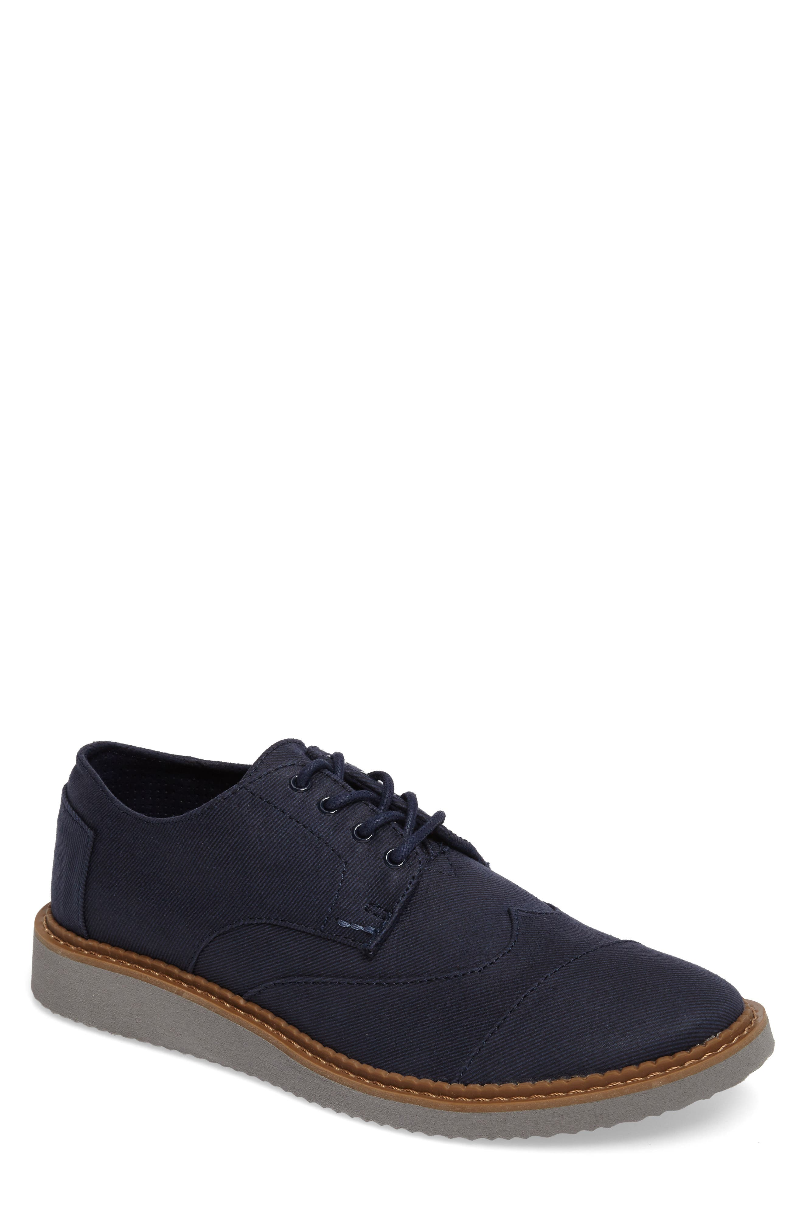 TOMS 'Classic Brogue' Cotton Twill Derby (Men)