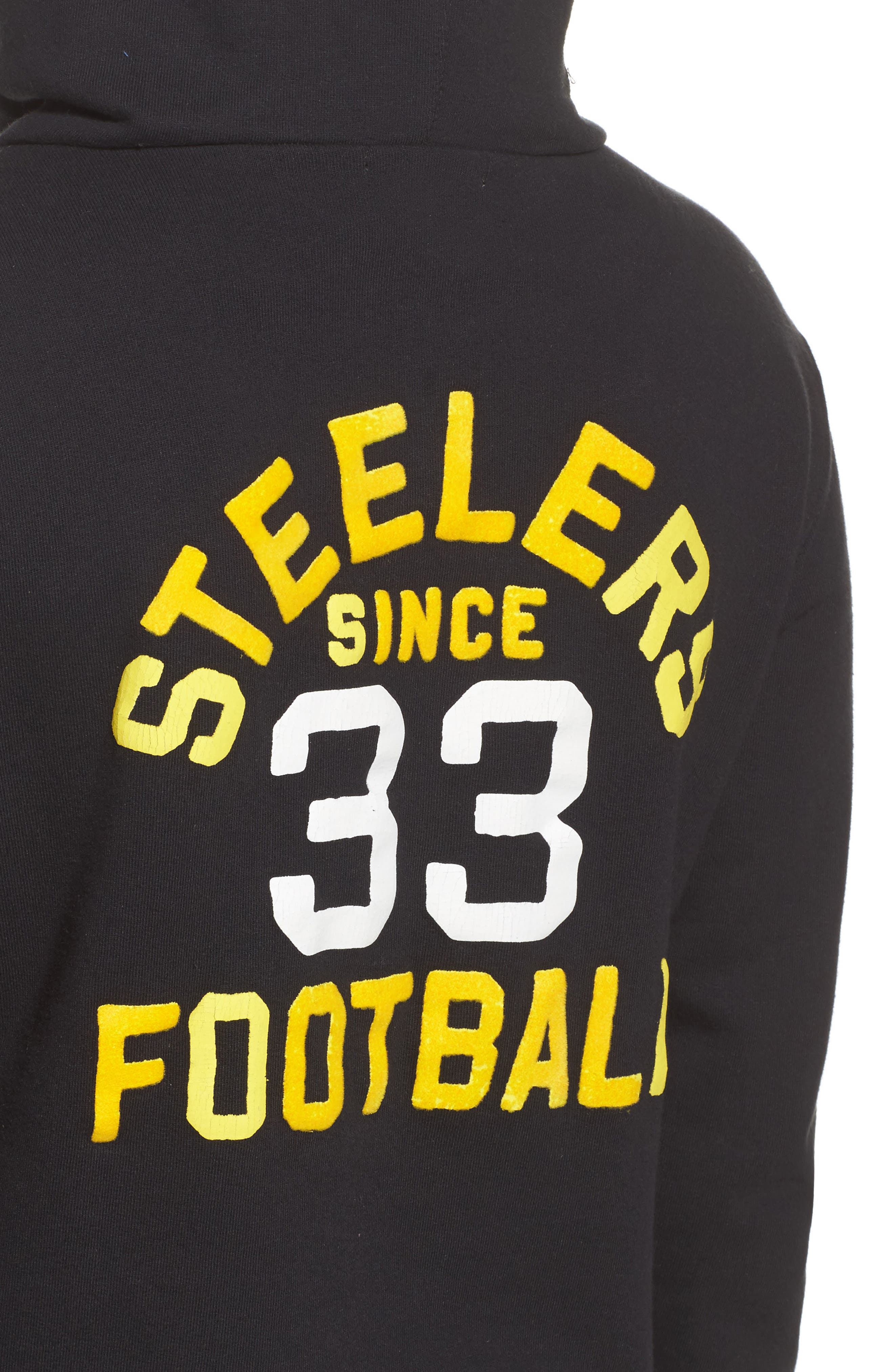 NFL Pittsburgh Steelers Sunday Hoodie,                             Alternate thumbnail 5, color,                             True Black
