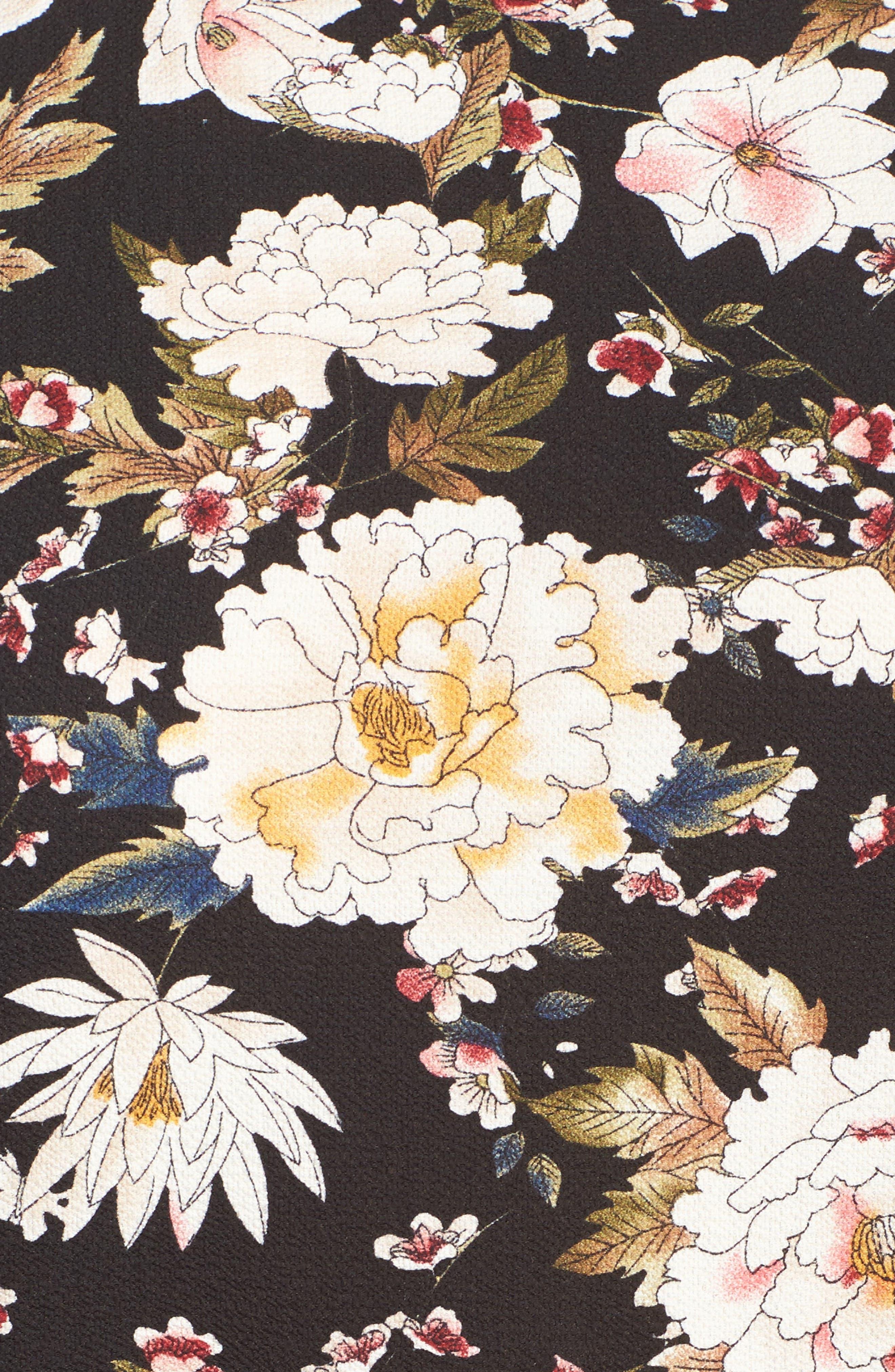 Alternate Image 5  - Glamorous Empire Waist Floral Print Dress (Plus Size)