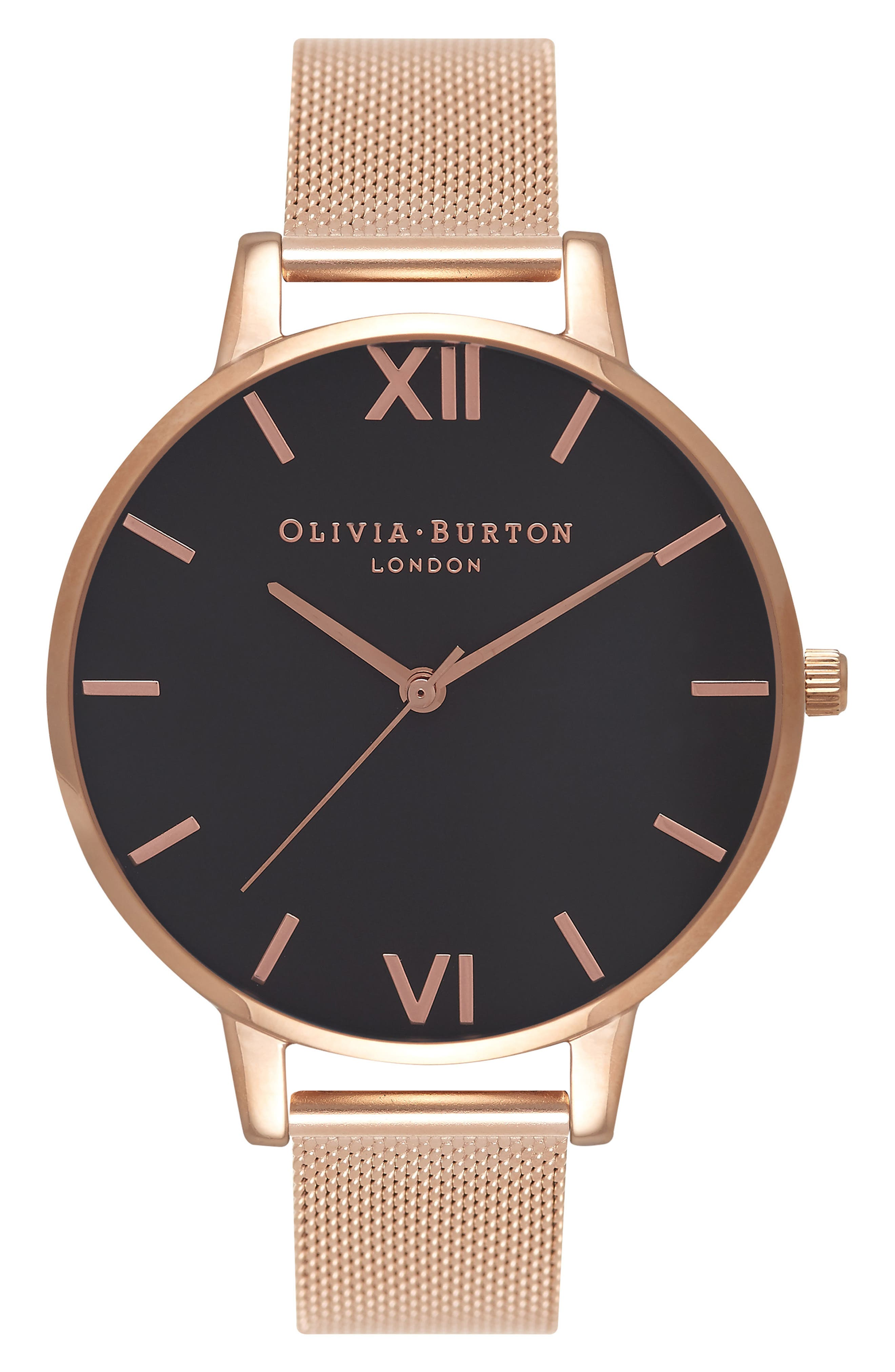 Alternate Image 1 Selected - Olivia Burton 'Big Dial' Mesh Strap Watch, 38mm
