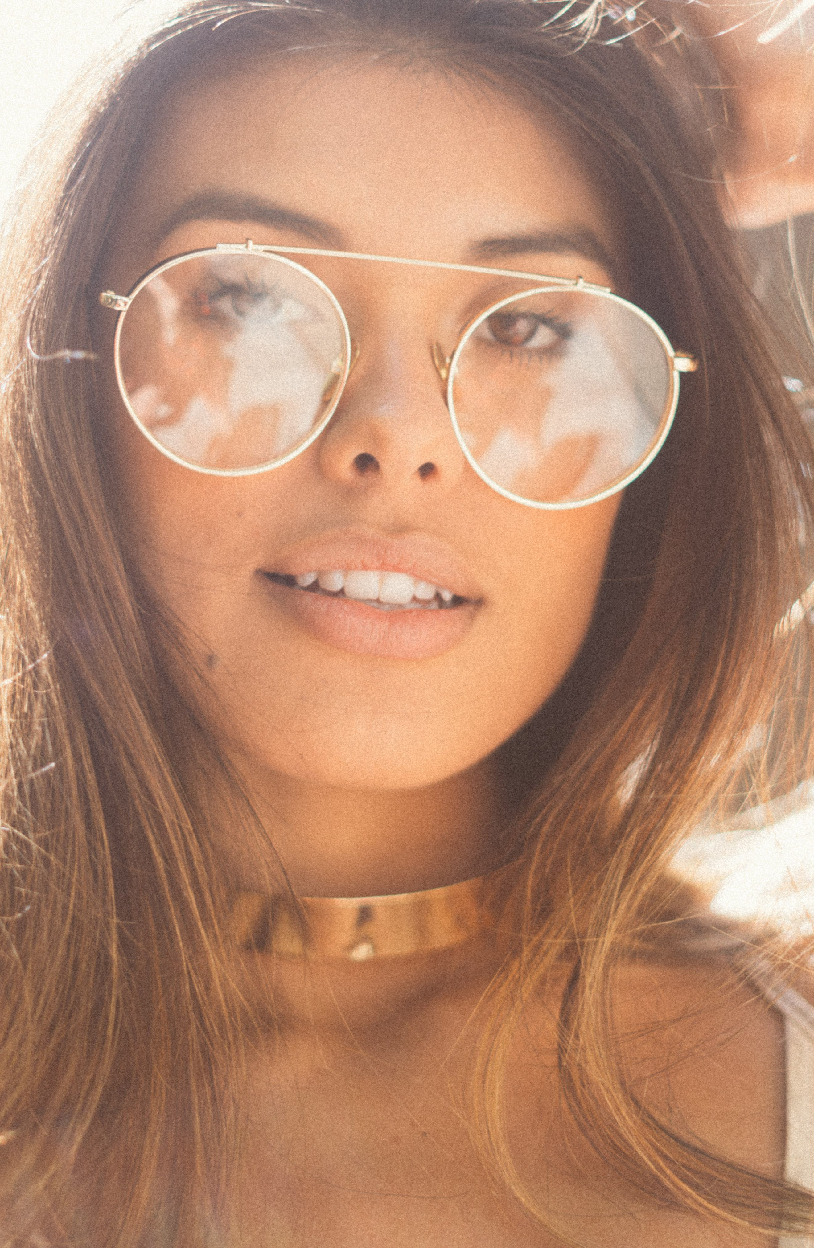 Alternate Image 2  - SunnySide LA 55mm Round Sunglasses