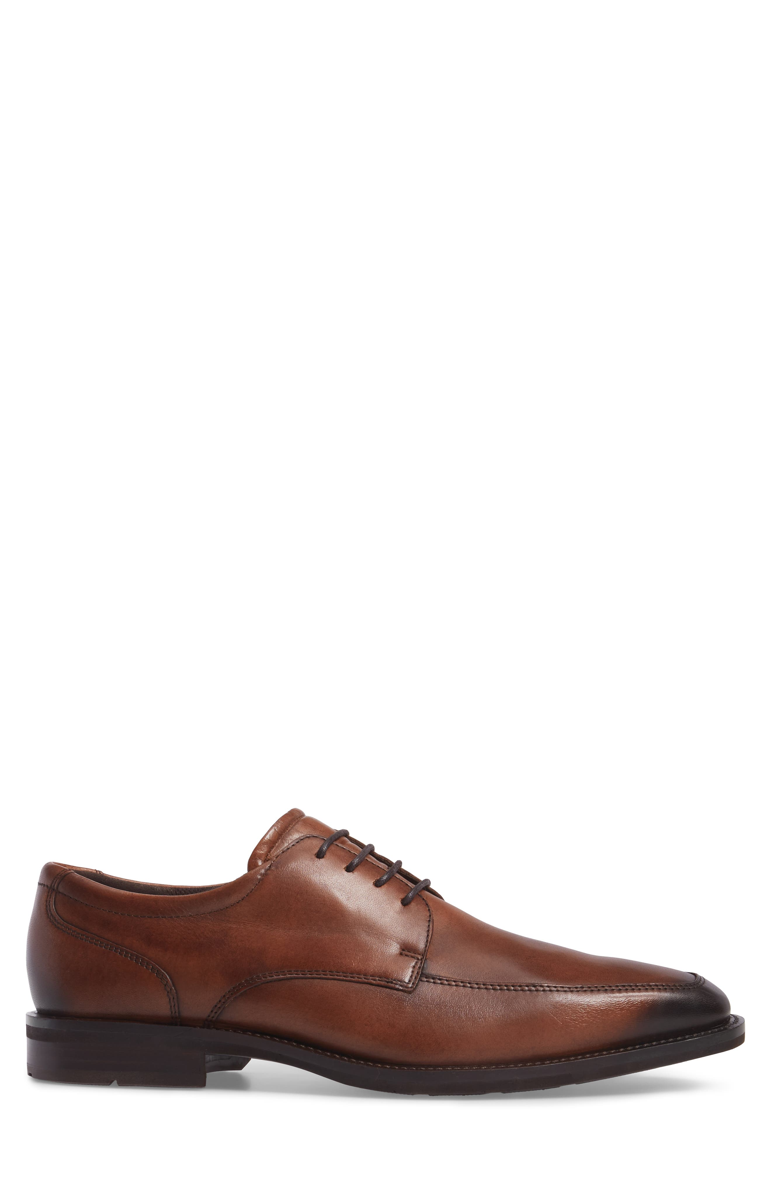 Faro Apron Toe Derby,                             Alternate thumbnail 3, color,                             Amber Leather