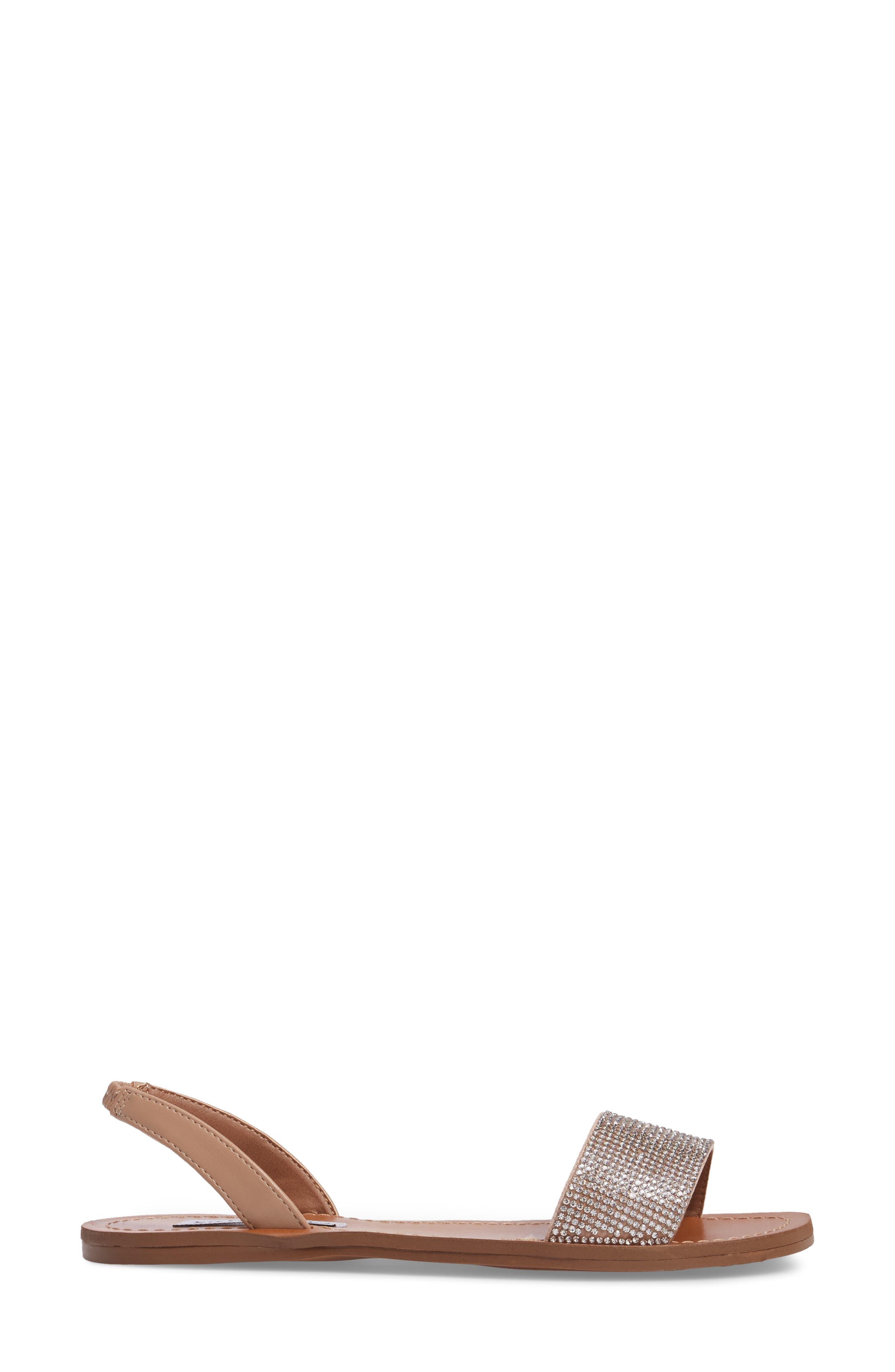 Rock Sandal,                             Alternate thumbnail 3, color,                             Rhinestone Faux Leather