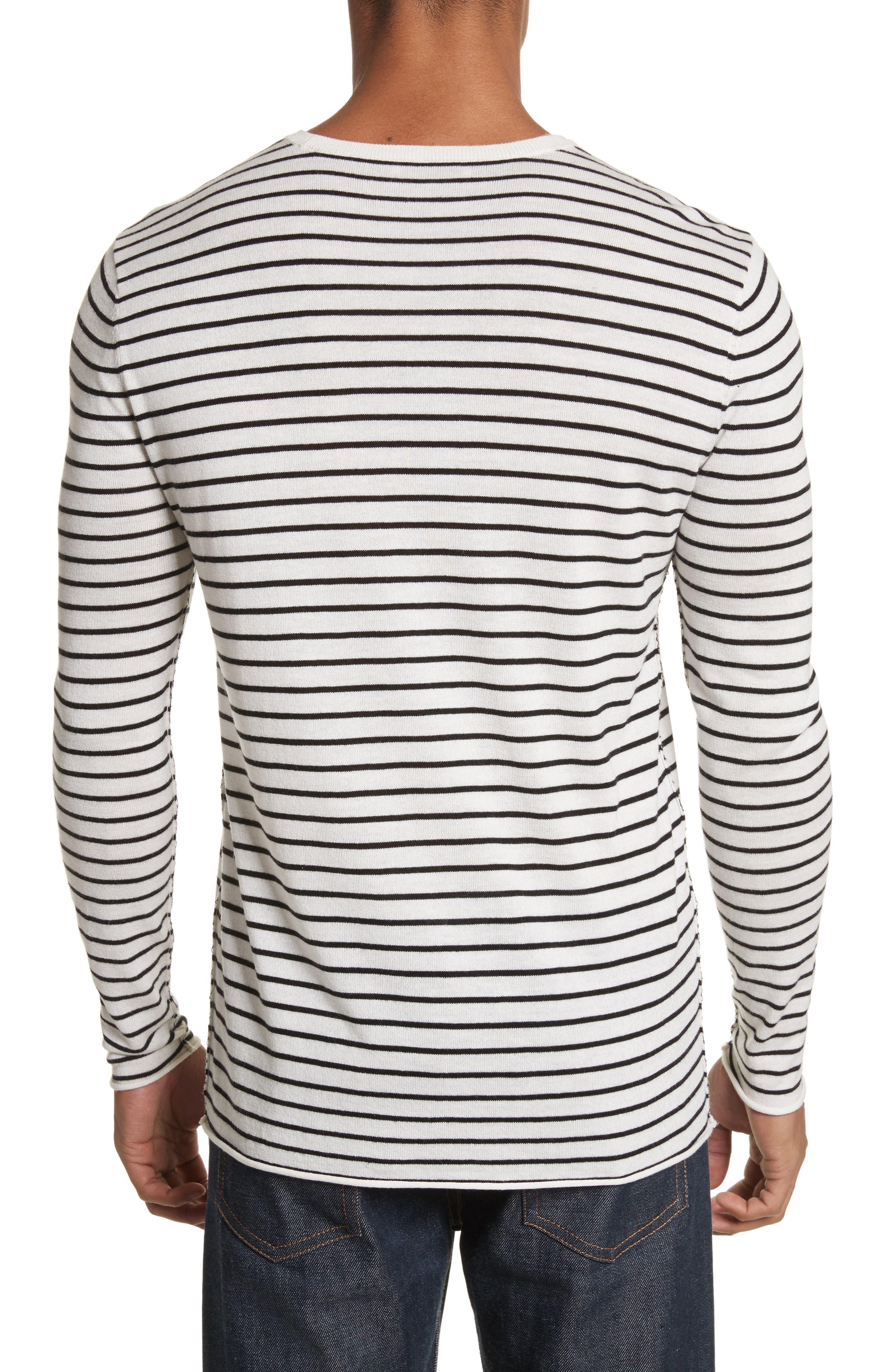 Alternate Image 2  - ATM Anthony Thomas Melillo Stripe Silk Blend Sweater