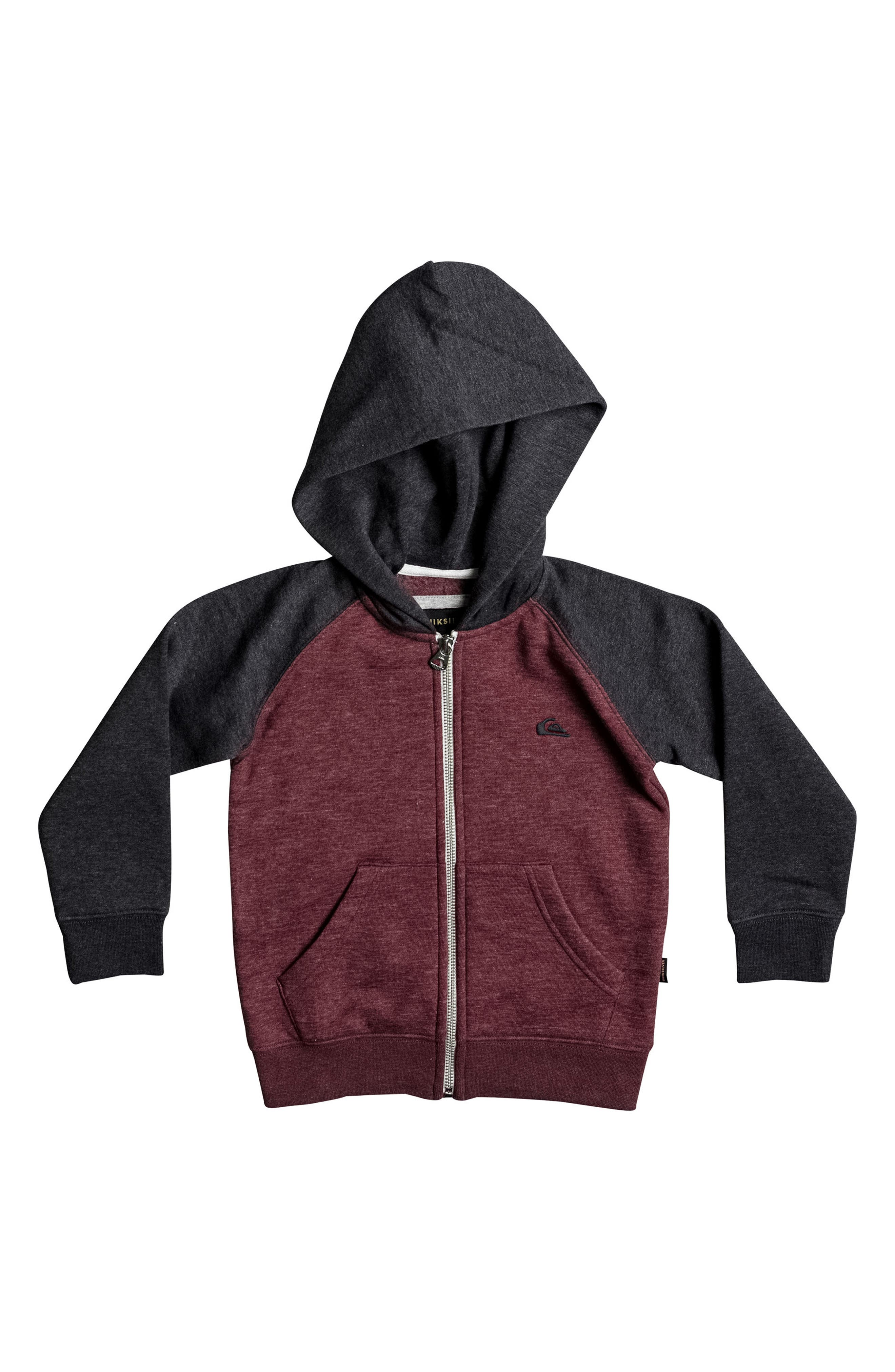 Colorblock Zip Hoodie,                             Main thumbnail 1, color,                             Pomegranate Heather