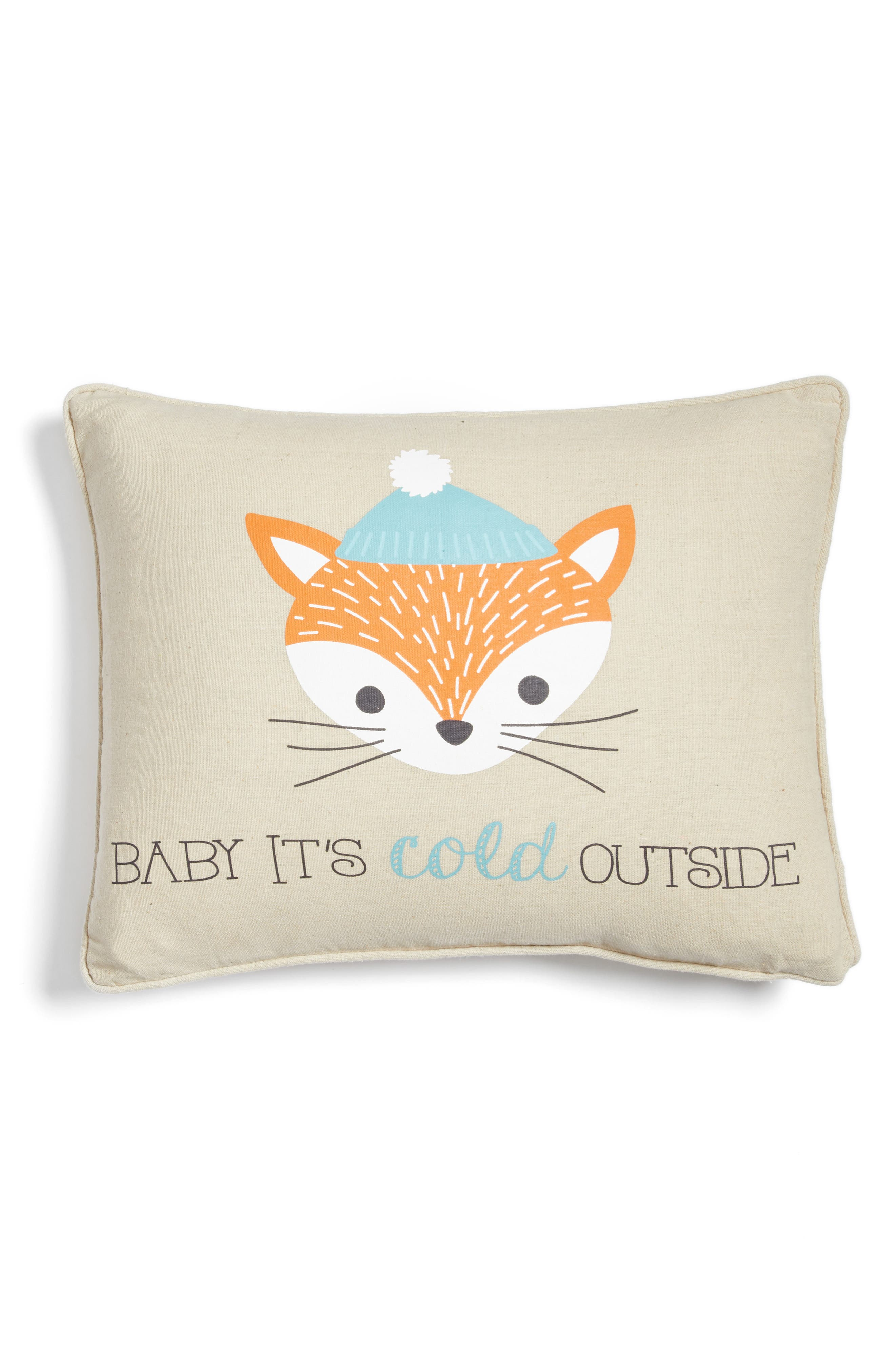 Baby It's Cold Outside Pillow,                         Main,                         color, Taupe