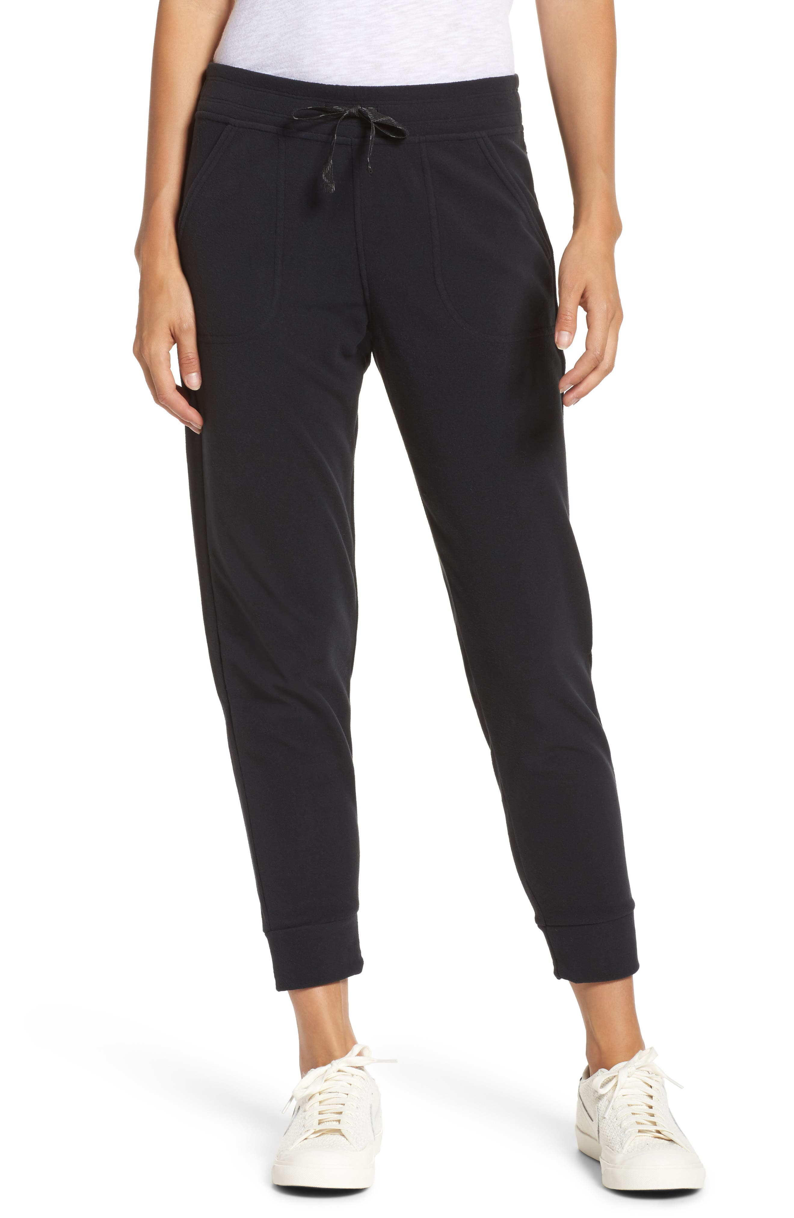 Snap-T Fleece Pants,                             Main thumbnail 1, color,                             Black