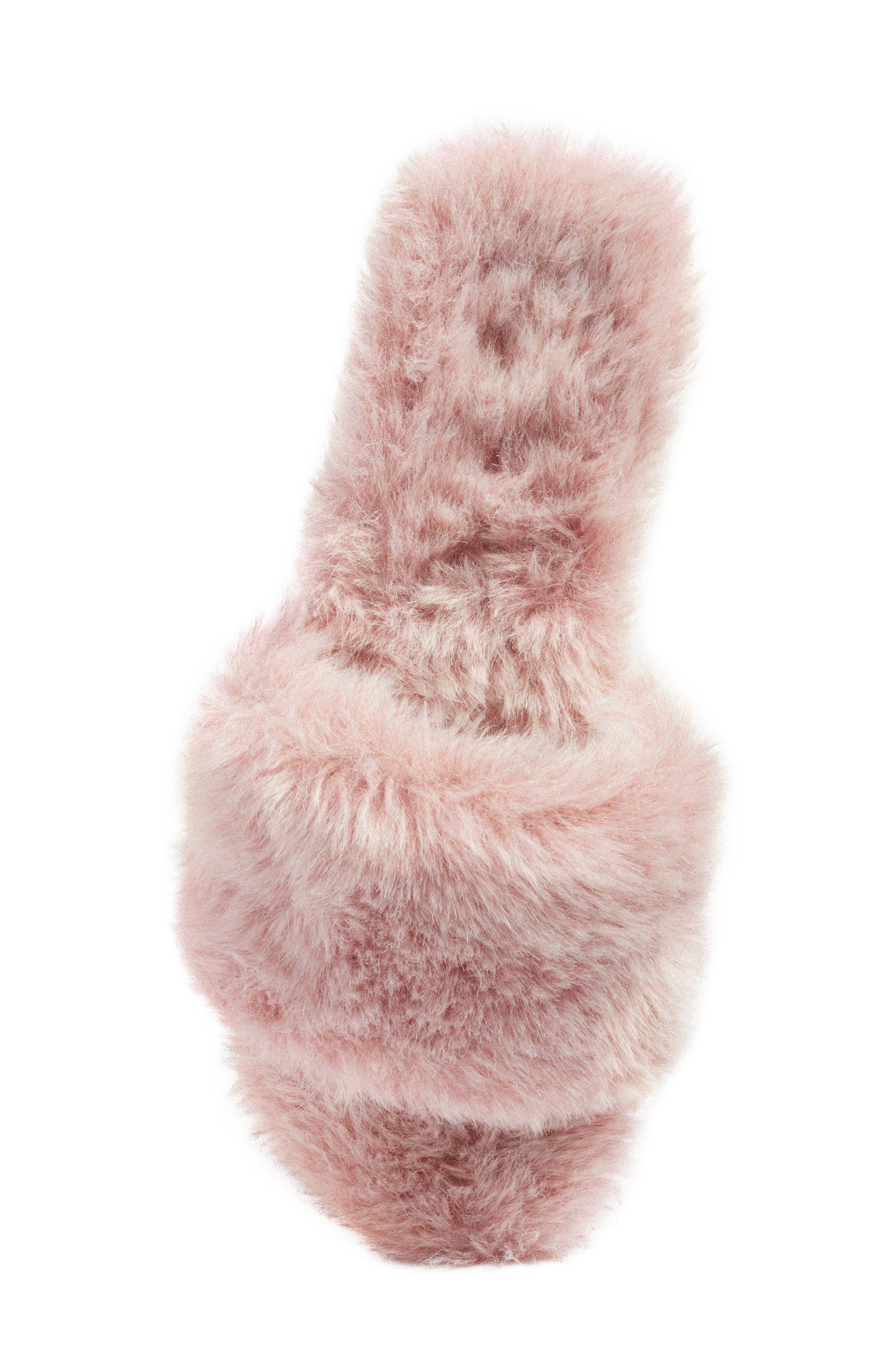 Alternate Image 5  - Joshua Sanders Faux Fur Slide Sandal (Women)