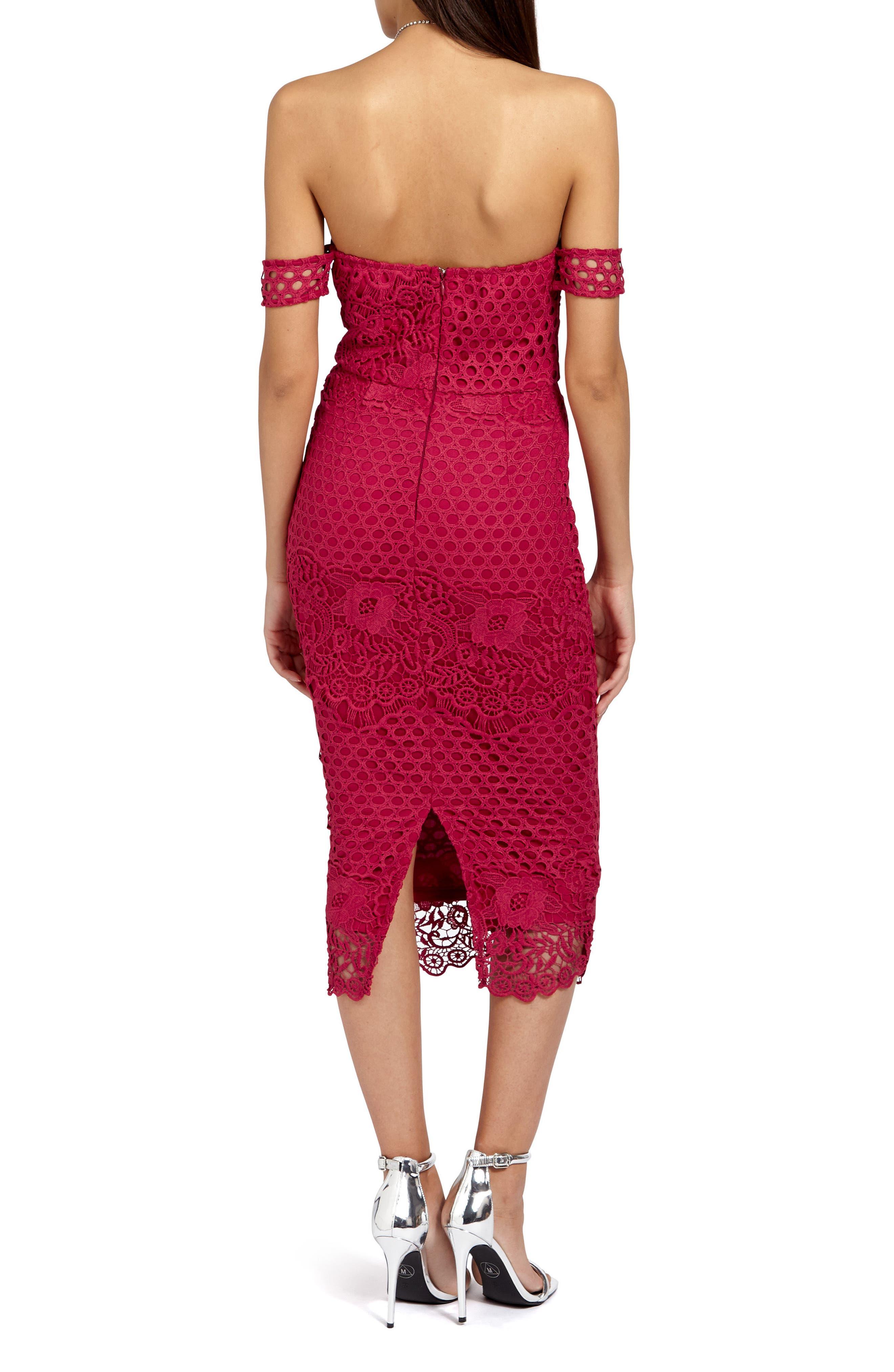 Alternate Image 2  - Missguided Lace Bardot Body-Con Dress