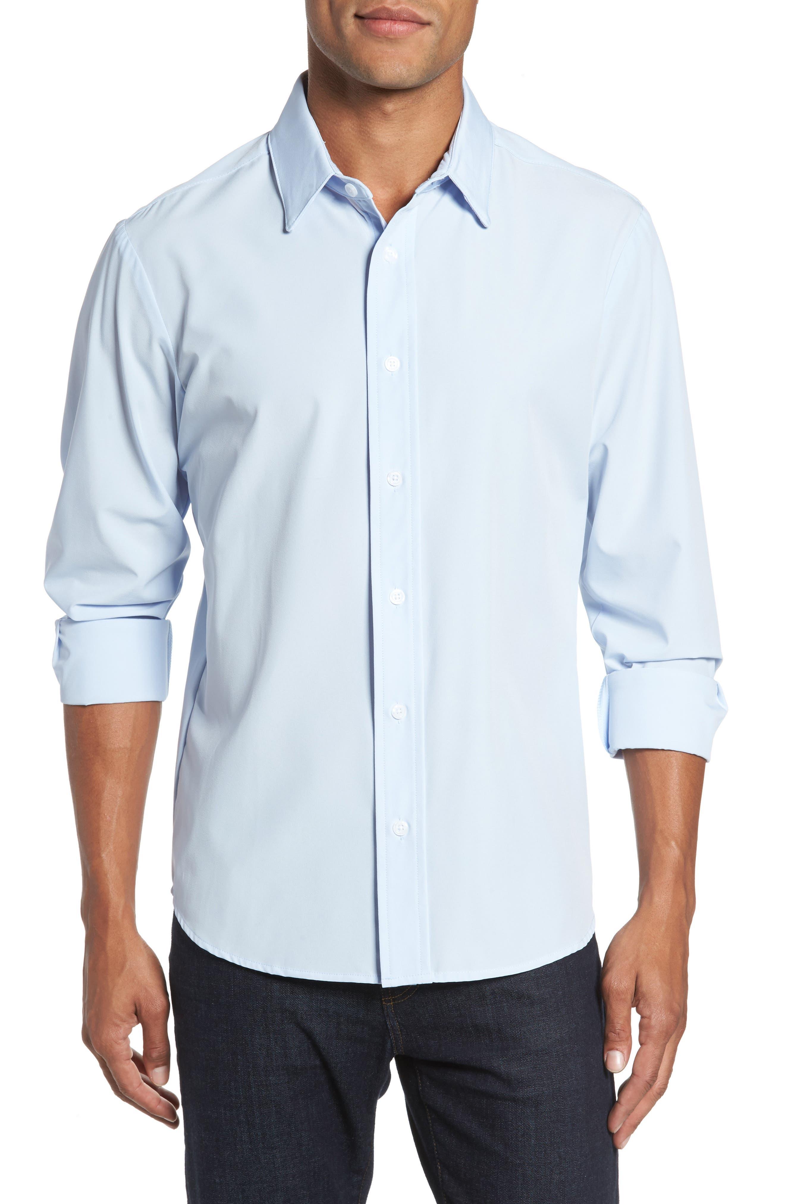 Blue Label Nelson Slim Fit Sport Shirt,                         Main,                         color, Blue
