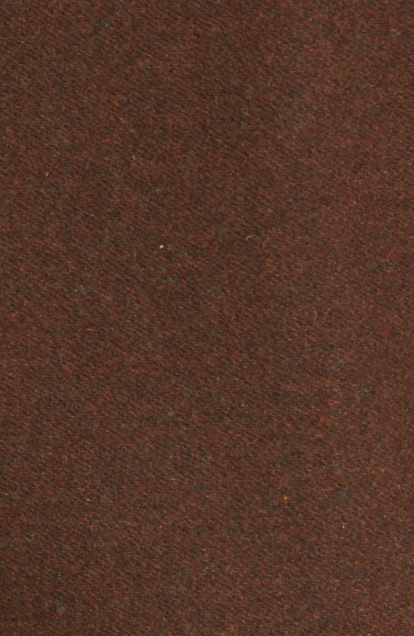 Liberty Wool Blend Zip Front Jacket,                             Alternate thumbnail 5, color,                             Brown