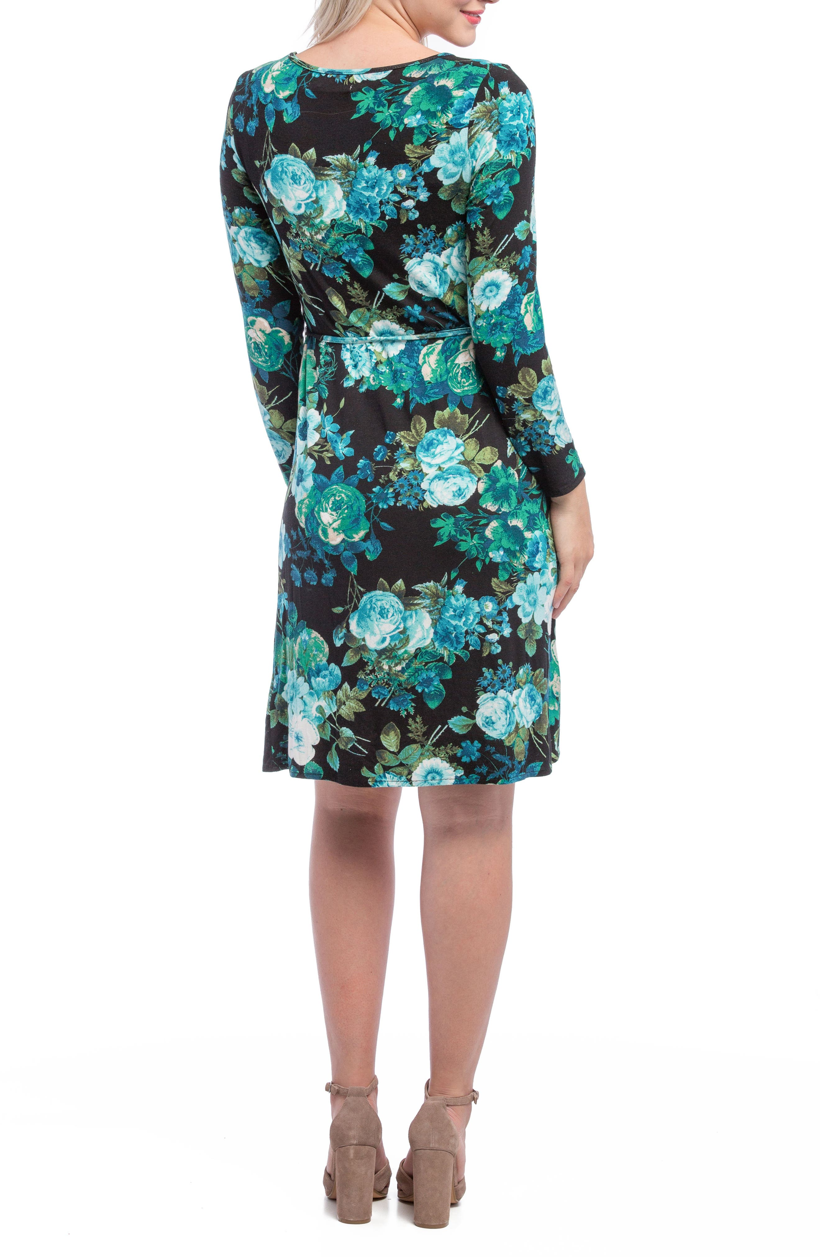Alternate Image 2  - Lilac Clothing Print Maternity Shift Dress