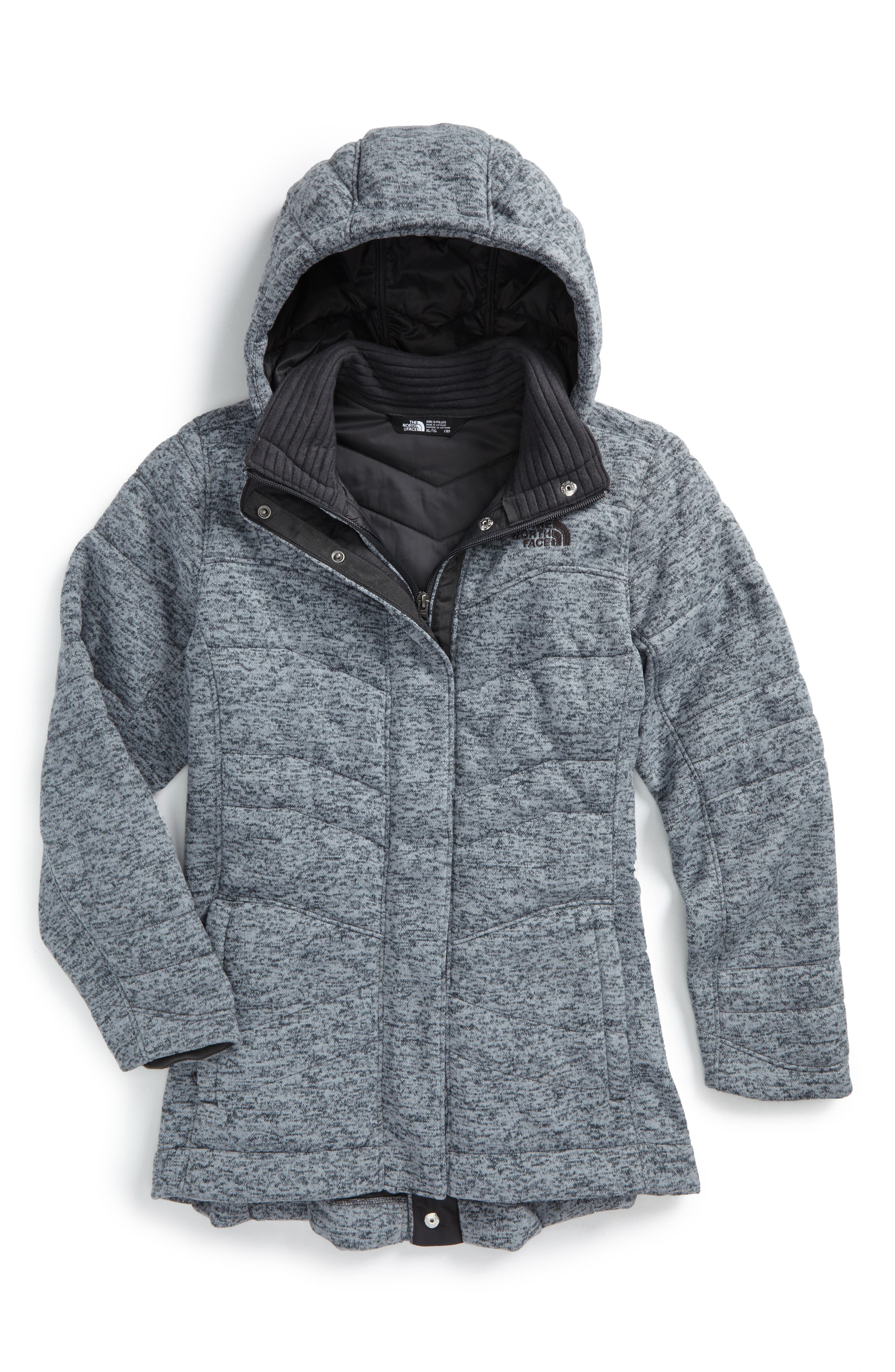 Main Image - The North Face Indi 2 Hooded Knit Parka (Big Girls)