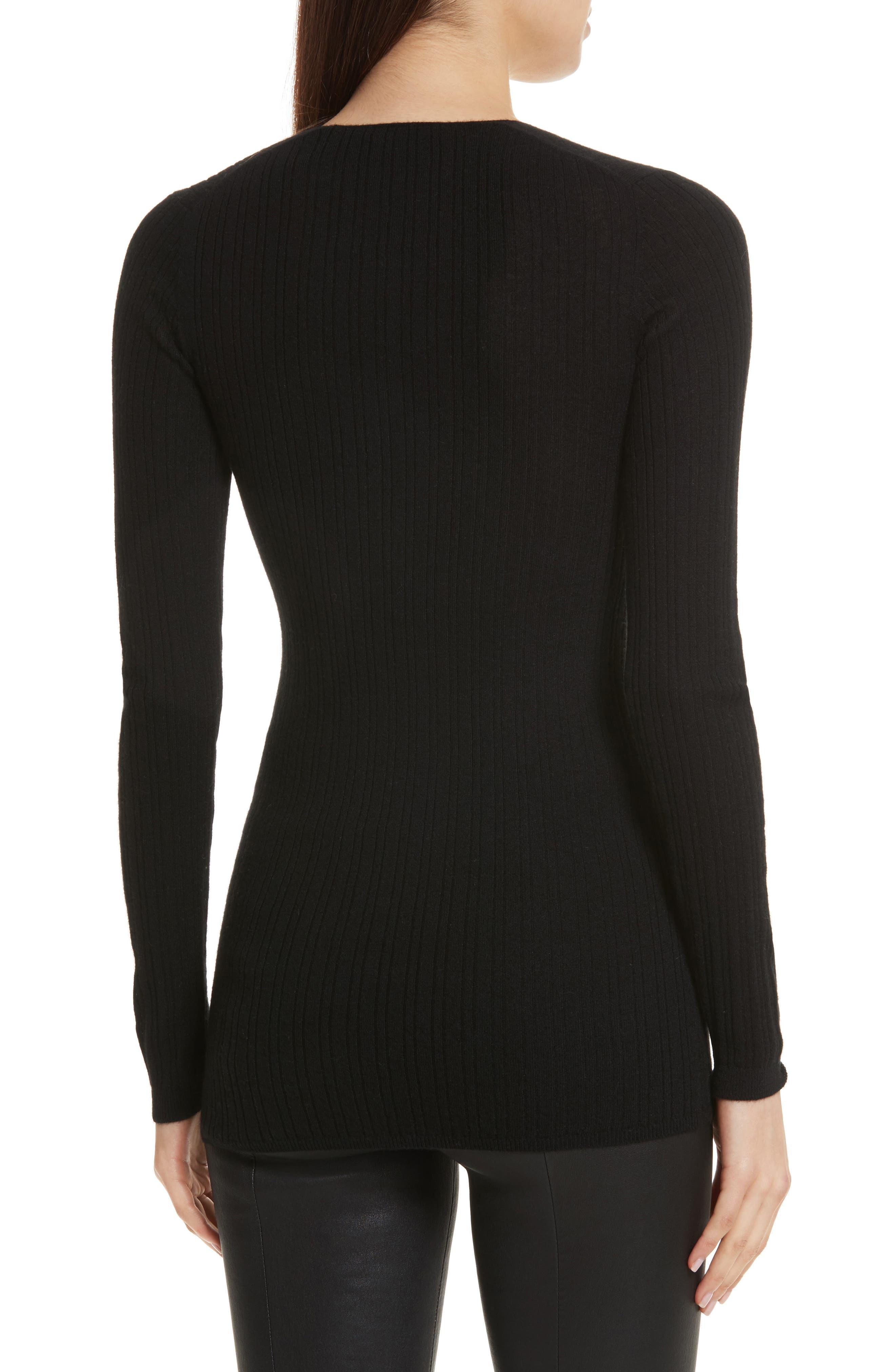 Alternate Image 2  - Vince Ribbed Cashmere V-Neck Sweater