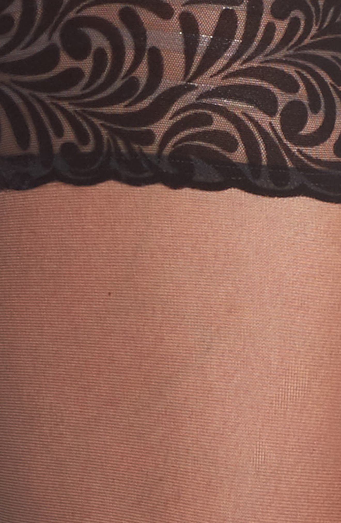Iris Stay-Up Stockings,                             Alternate thumbnail 3, color,                             Black