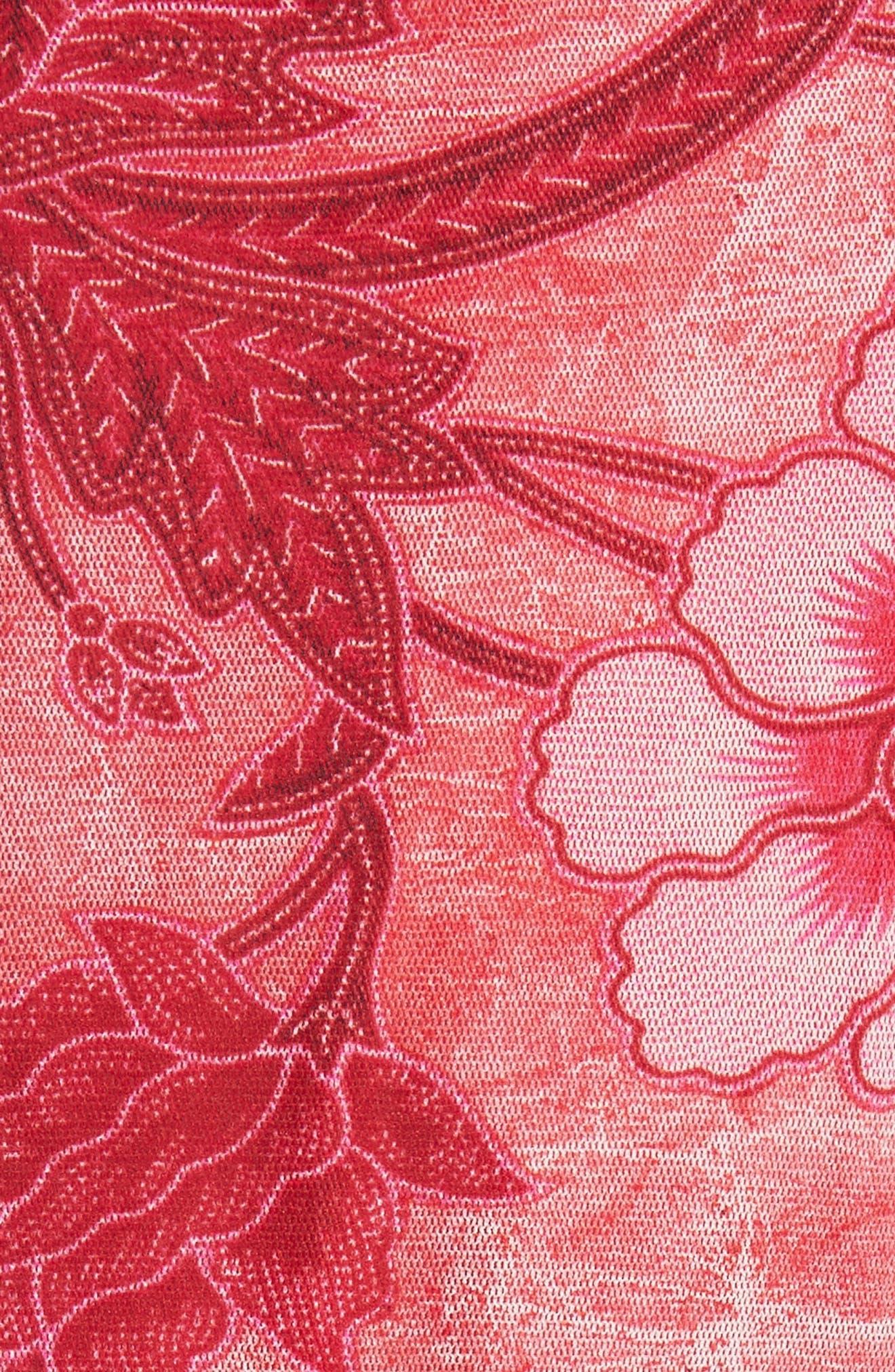 Alternate Image 5  - Fuzzi Print Tulle Midi Dress