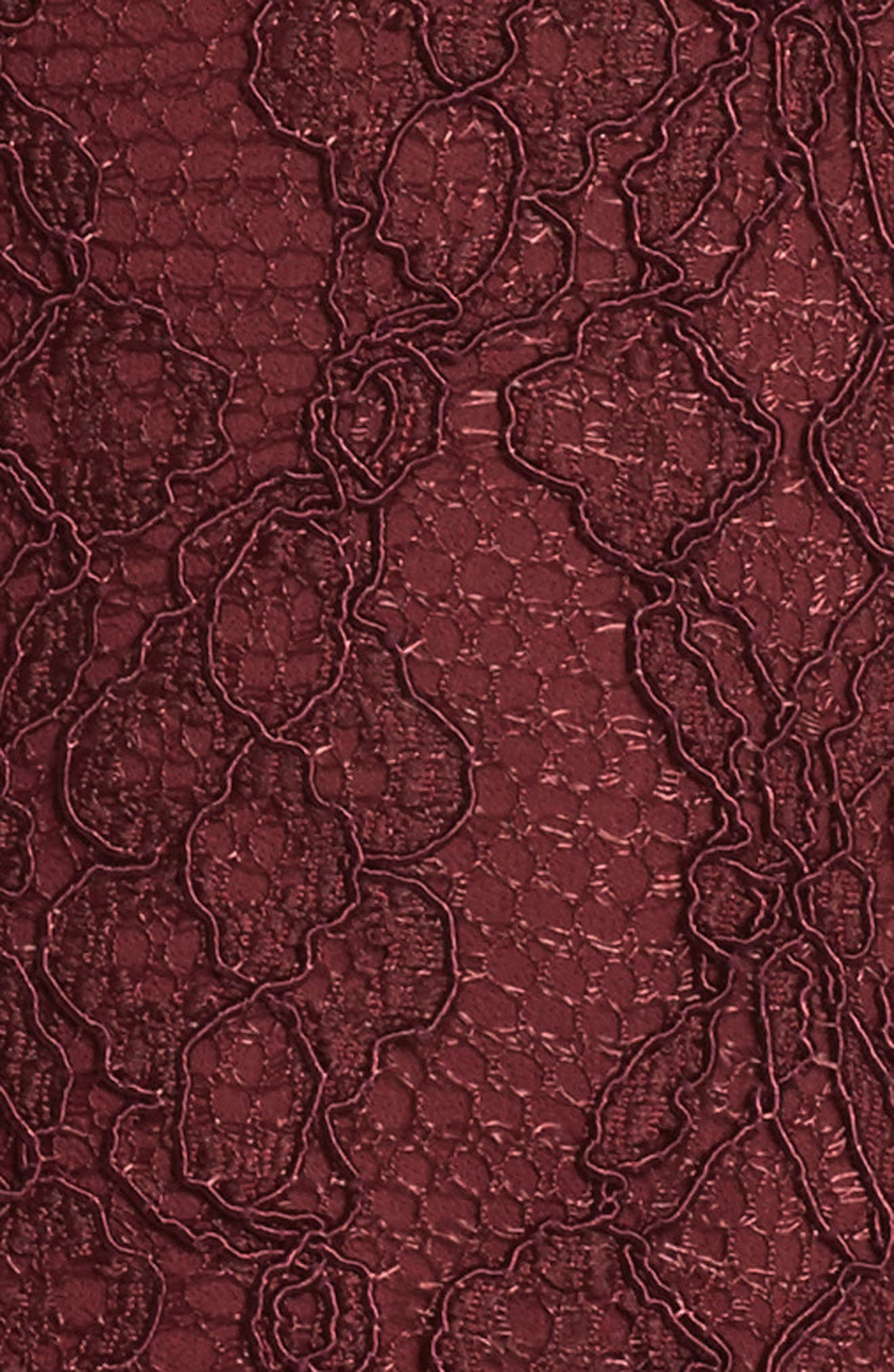 Cecila Lace Midi Dress,                             Alternate thumbnail 5, color,                             Burgundy