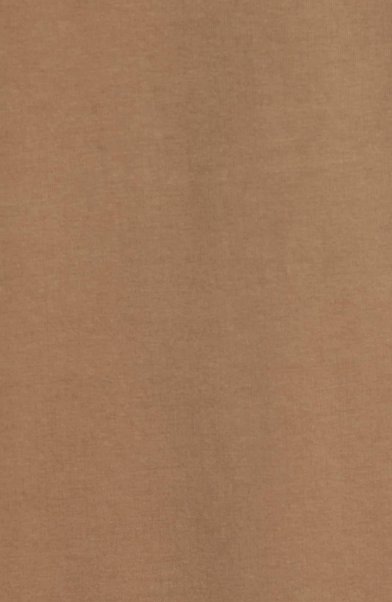 Kennison Zip Cardigan,                             Alternate thumbnail 5, color,                             Walnut