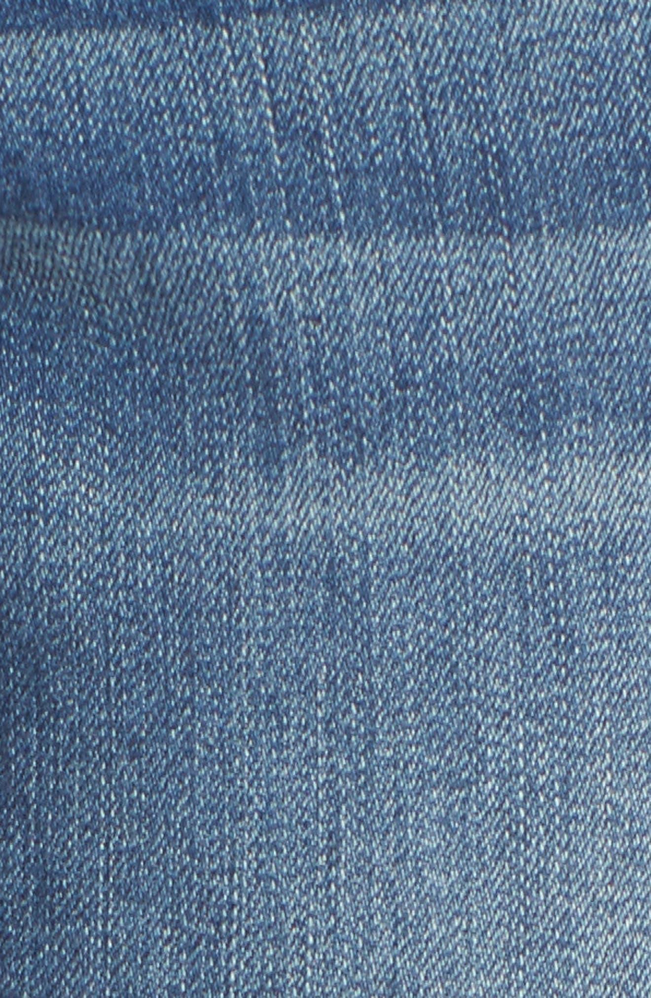 Alternate Image 5  - 1822 Denim Destructed Maternity Crop Jeans