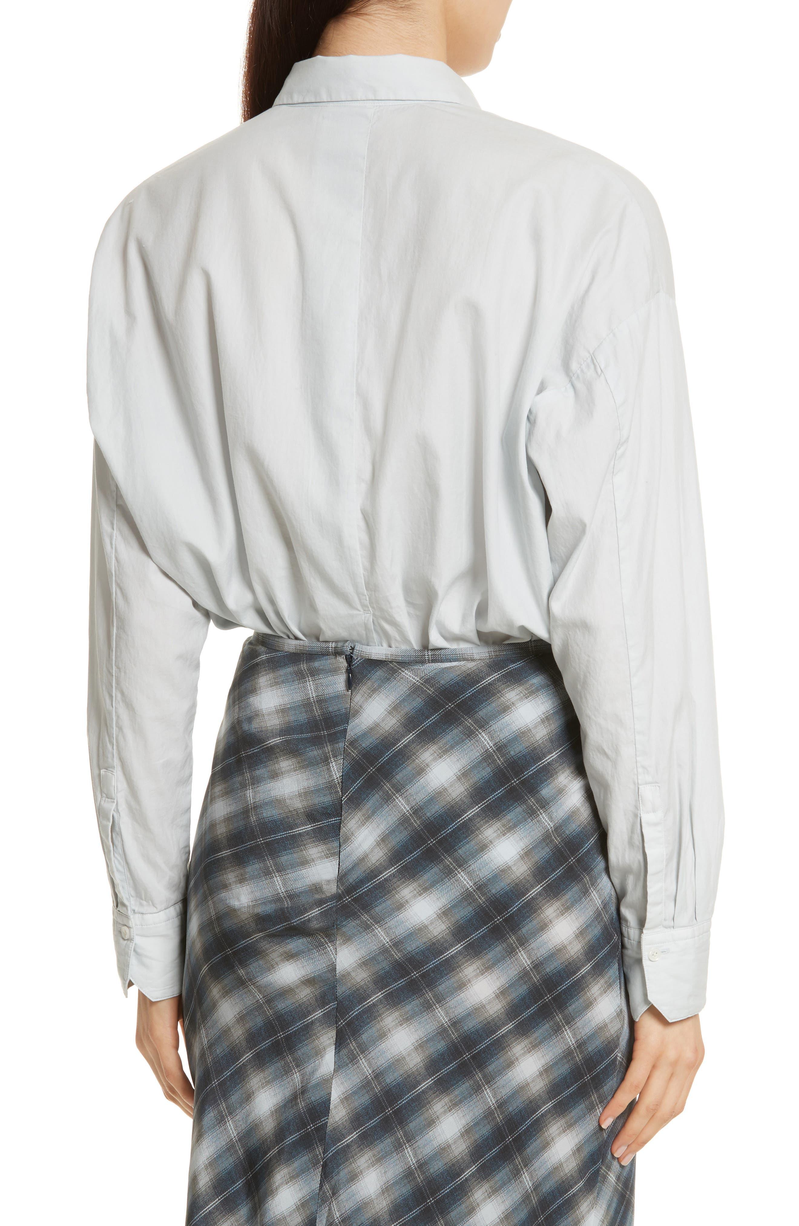 Alternate Image 2  - Vince Single Pocket Cotton & Silk Shirt