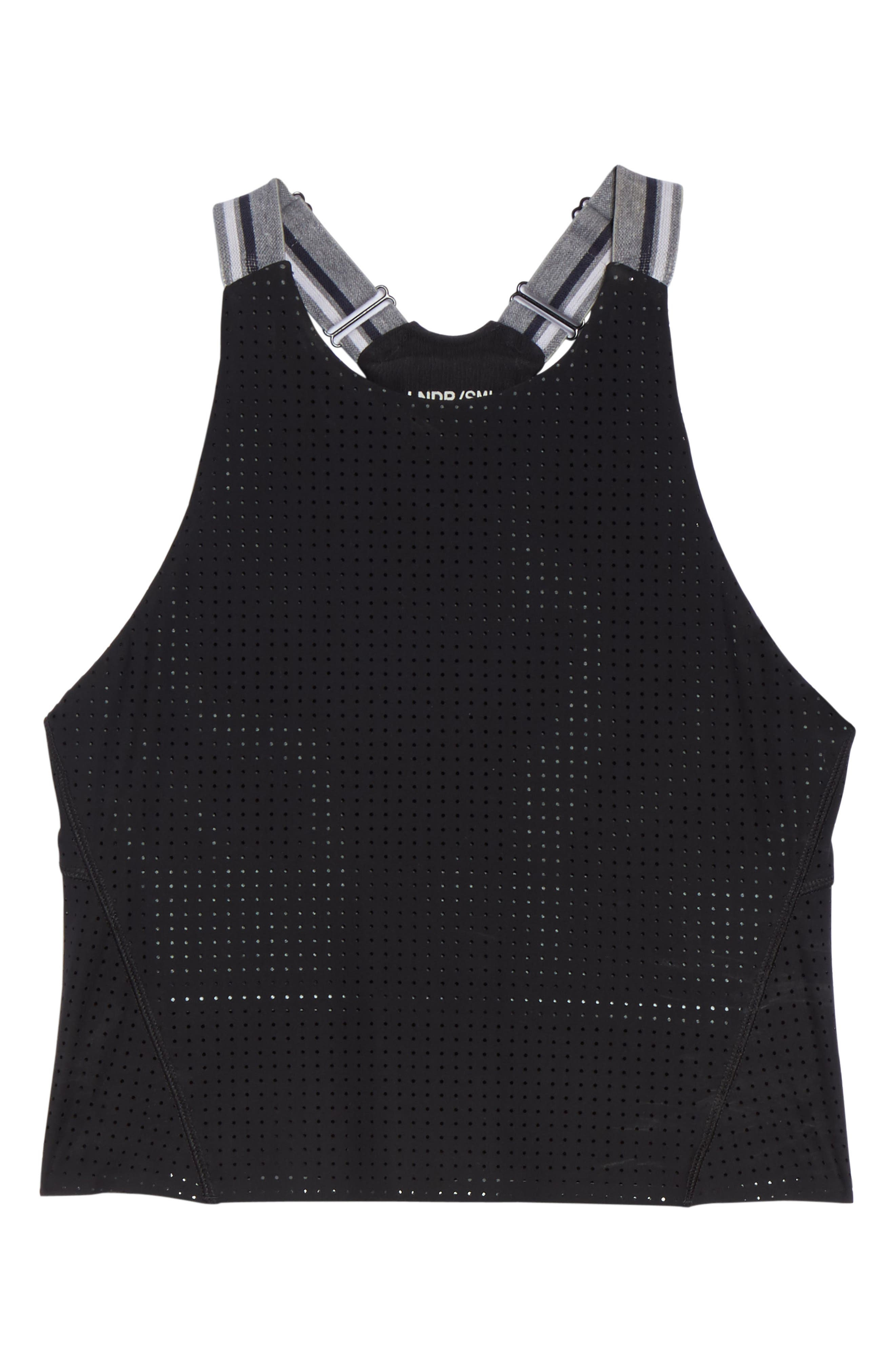 2-in-1 Crop Tank,                             Alternate thumbnail 6, color,                             Black