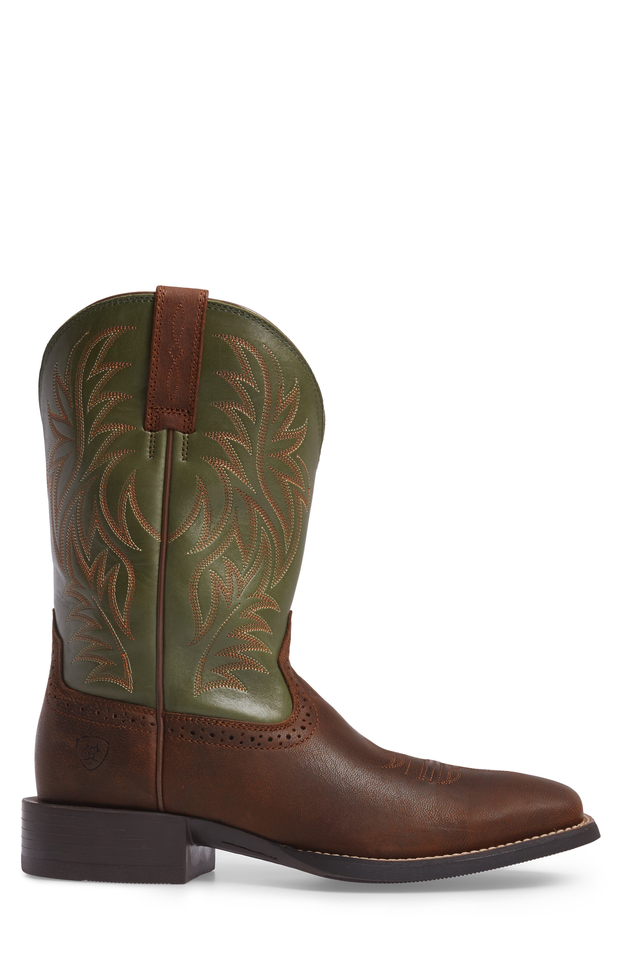 'Sport Western' Cowboy Boot,                             Alternate thumbnail 2, color,                             Tan/ Pesto