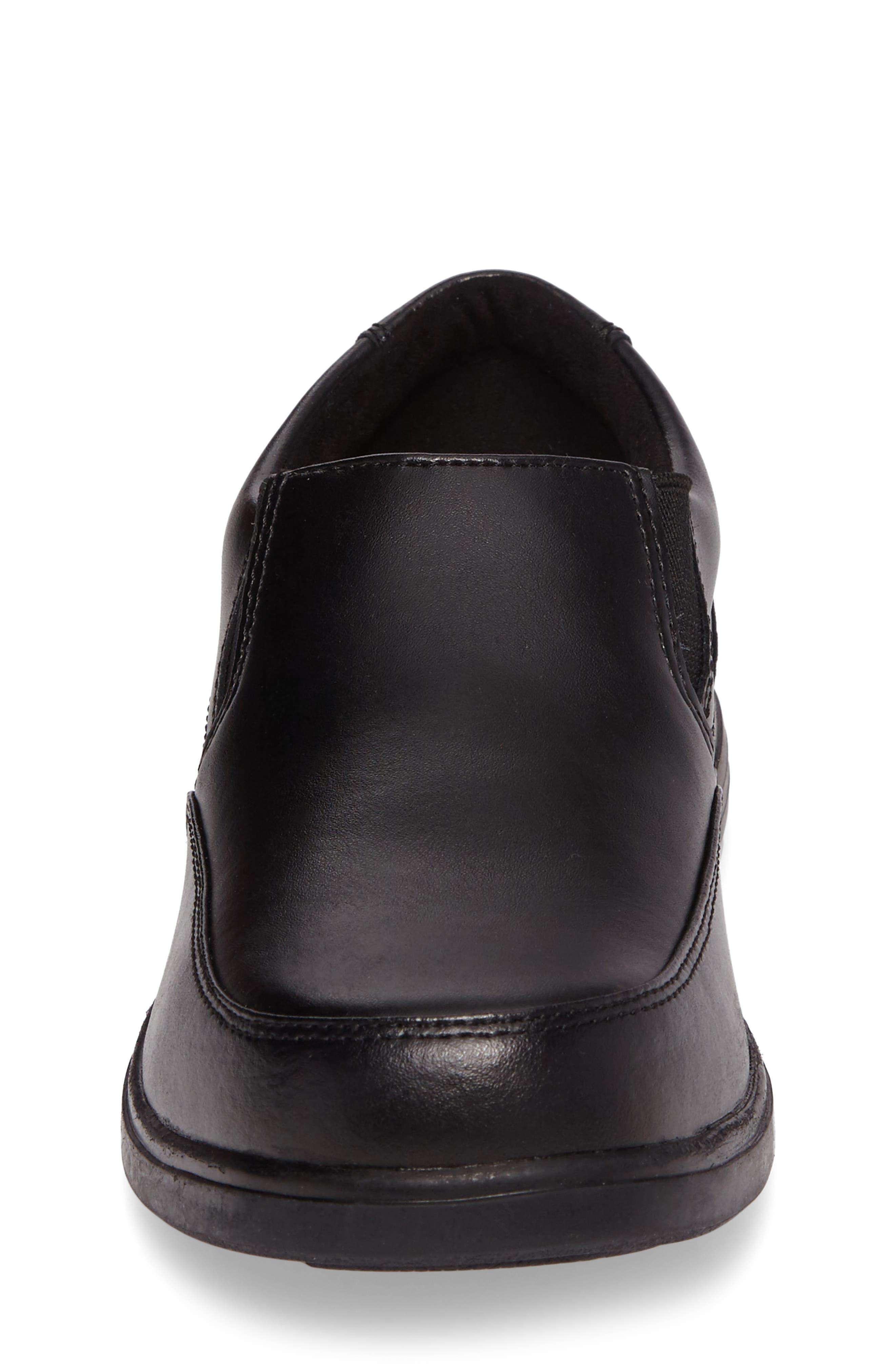 Shane Slip-On Dress Shoe,                             Alternate thumbnail 4, color,                             Black Leather