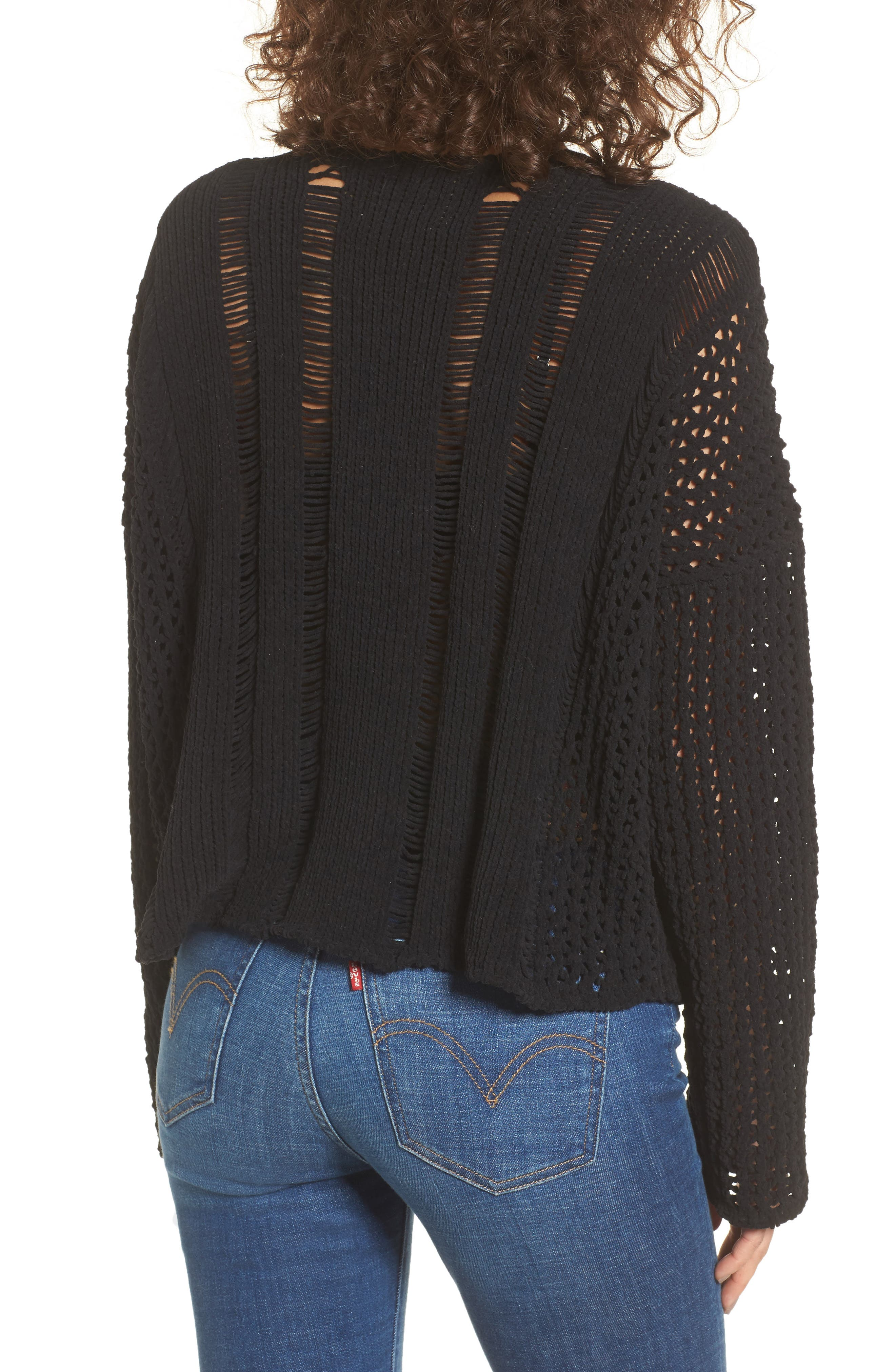Alternate Image 2  - MOON RIVER Net Detail Sweater