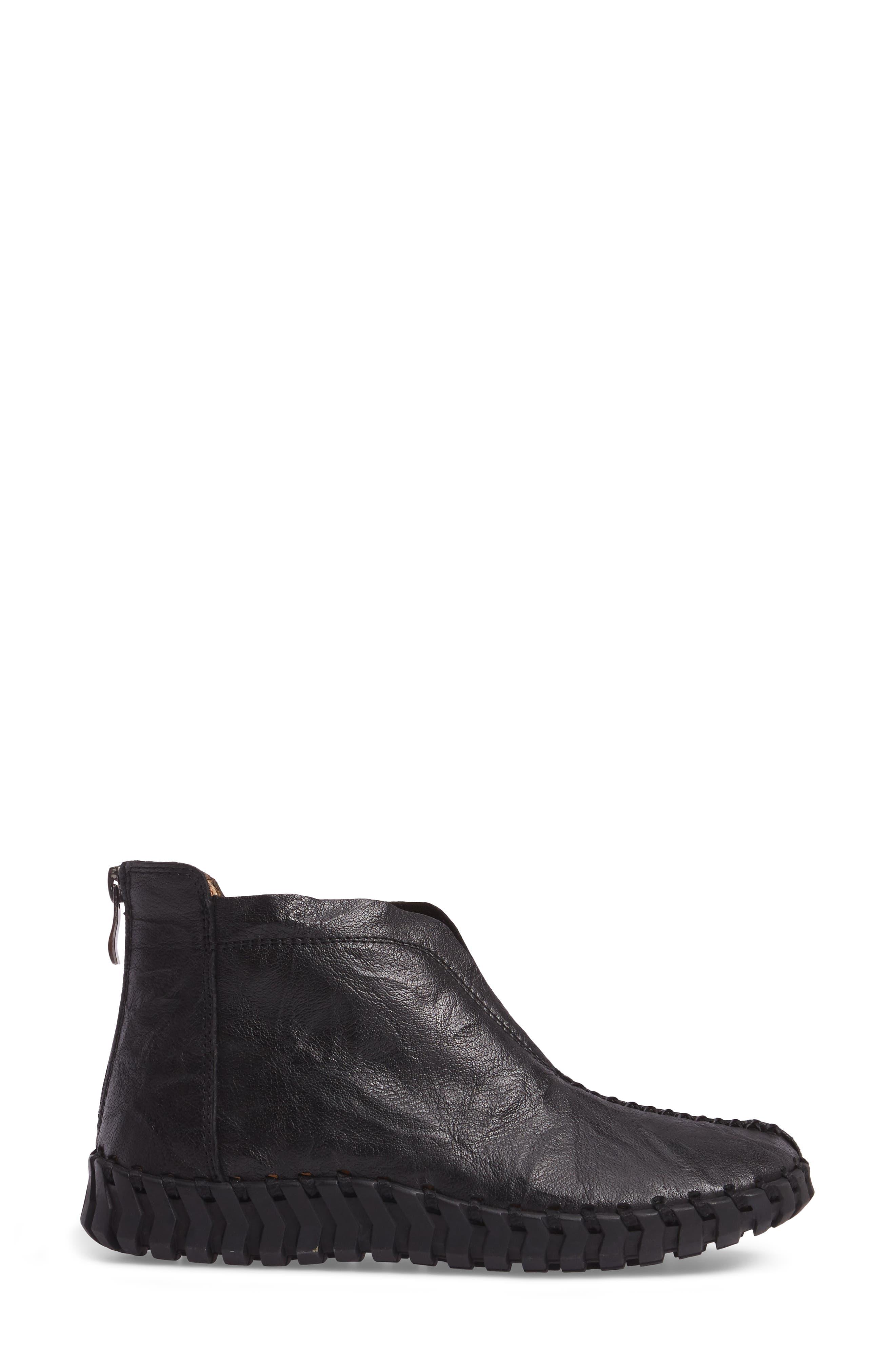TW79 Bootie,                             Alternate thumbnail 3, color,                             Black Leather