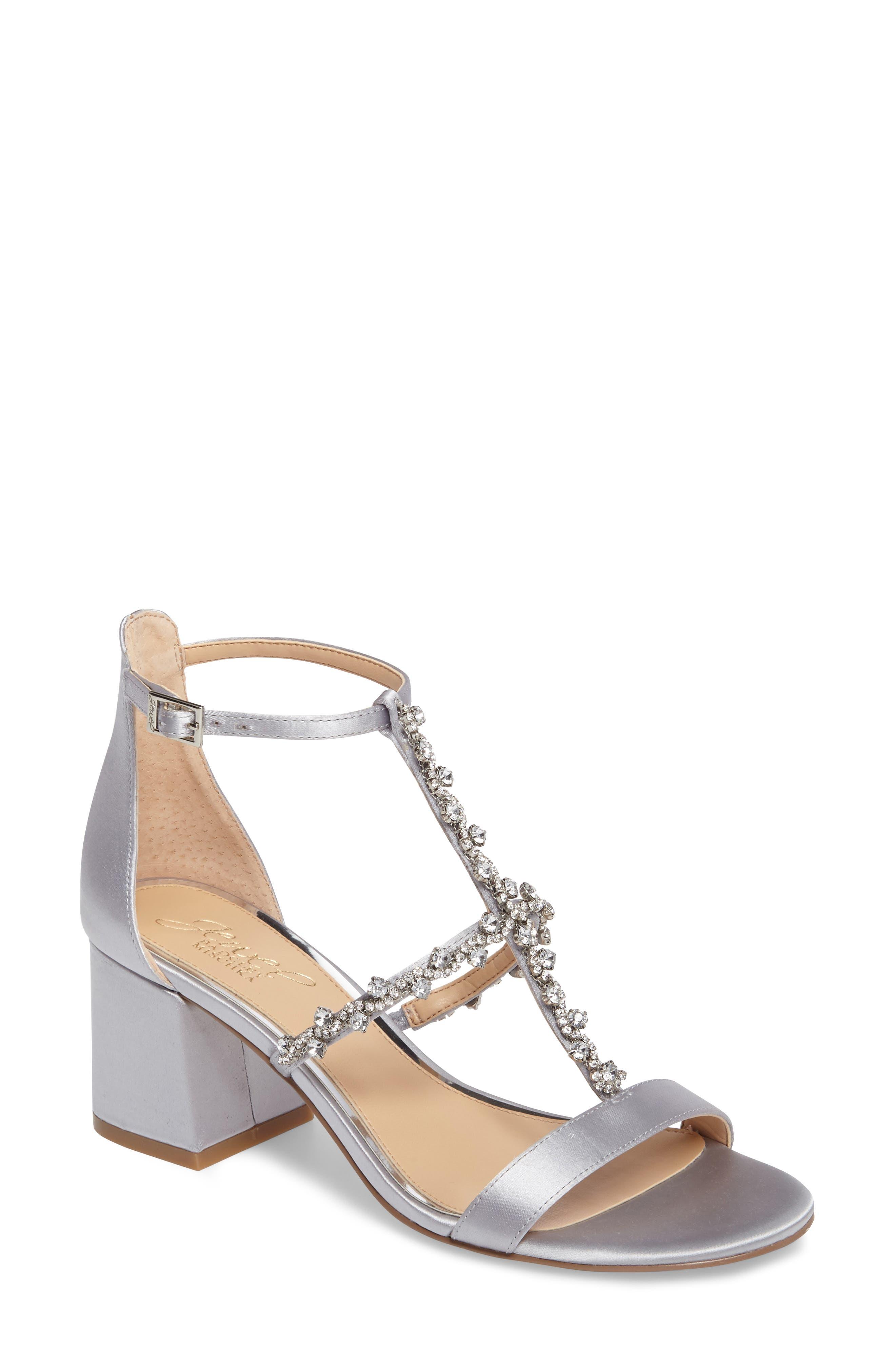 Jewel Badgley Mischka Alamea Block Heel Sandal (Women)