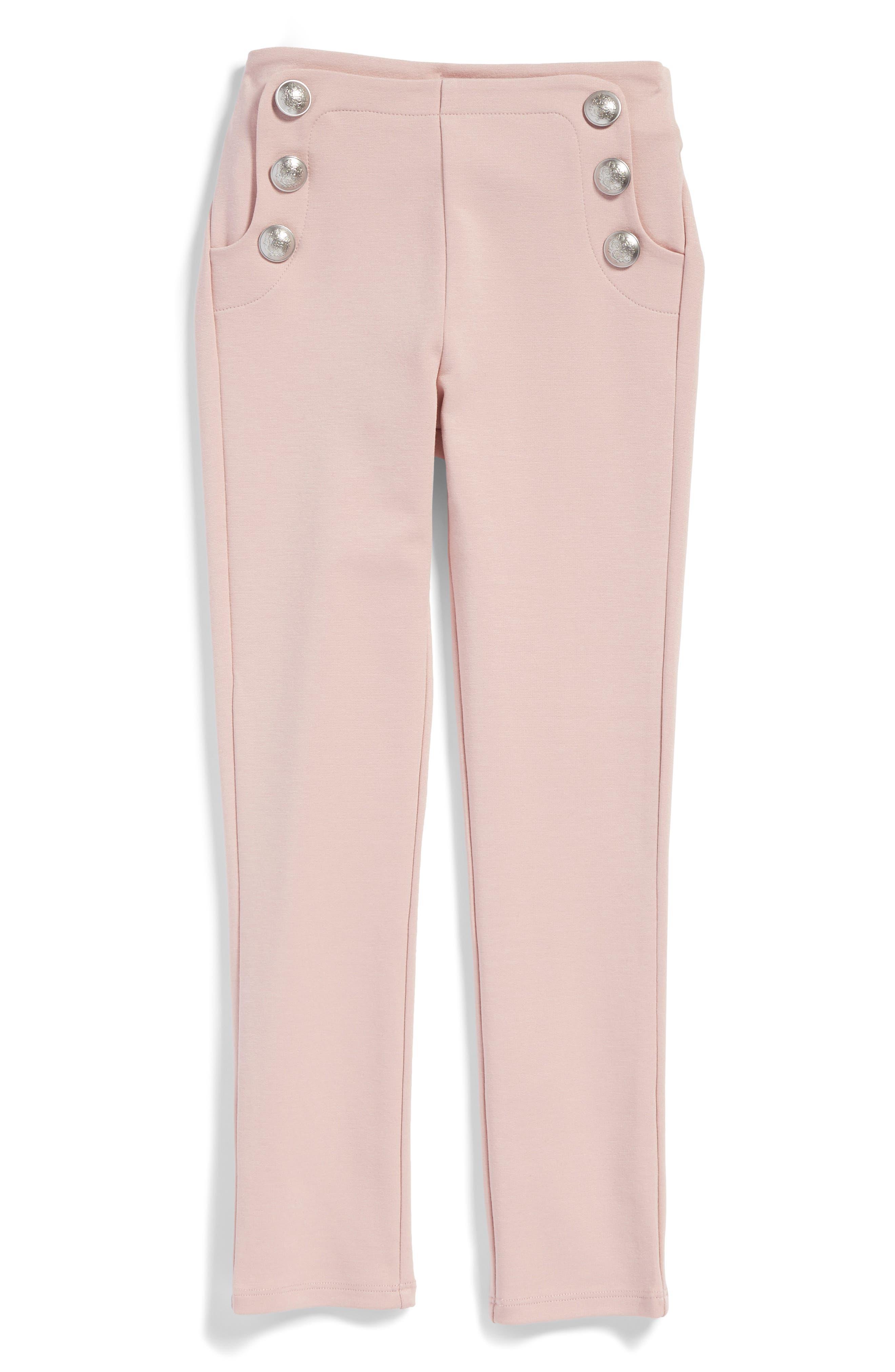 Alternate Image 1 Selected - Bardot Junior Button Leggings (Little Girls)