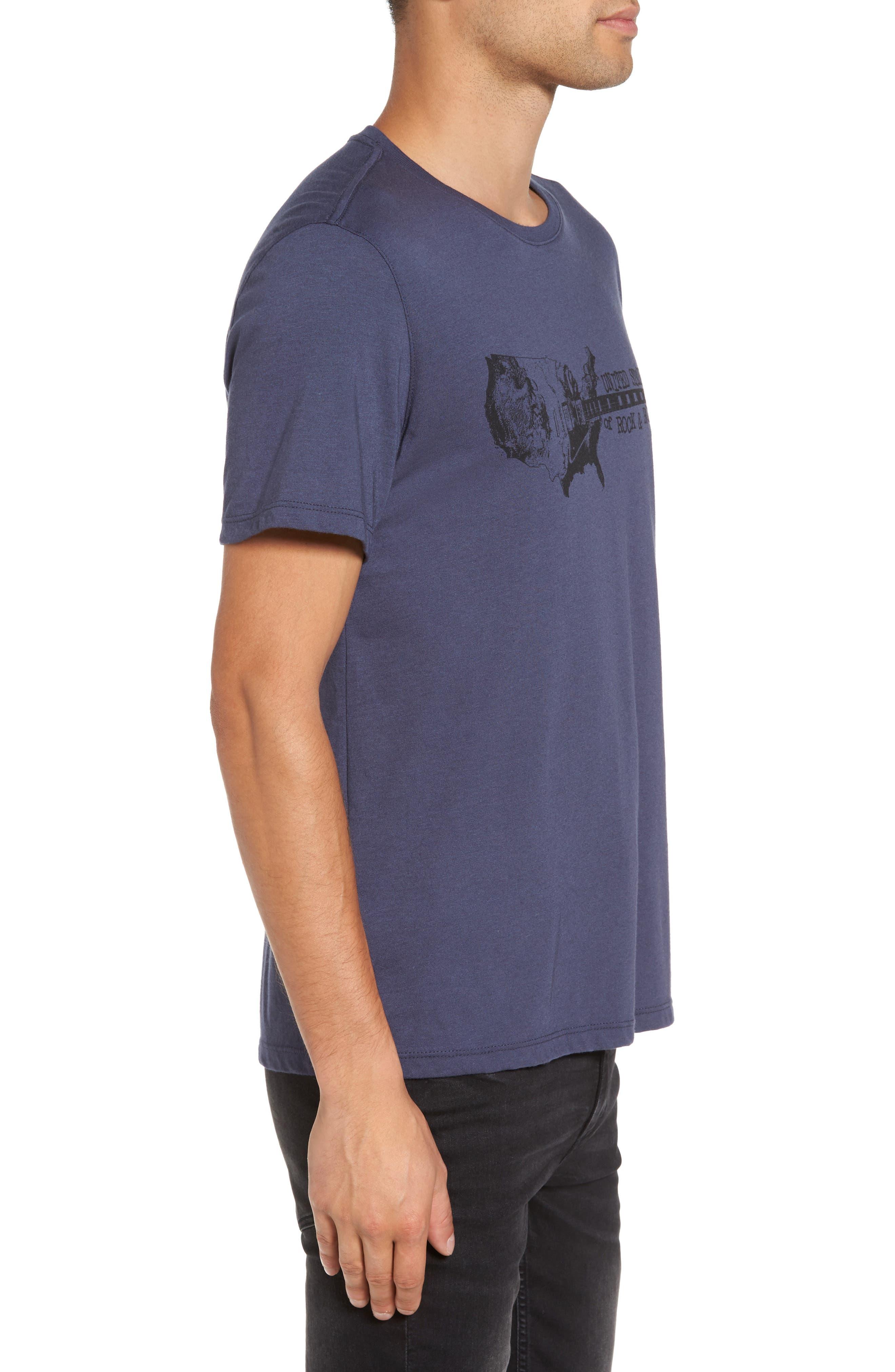 Guitar Stack Graphic T-Shirt,                             Alternate thumbnail 3, color,                             Twilight Blue