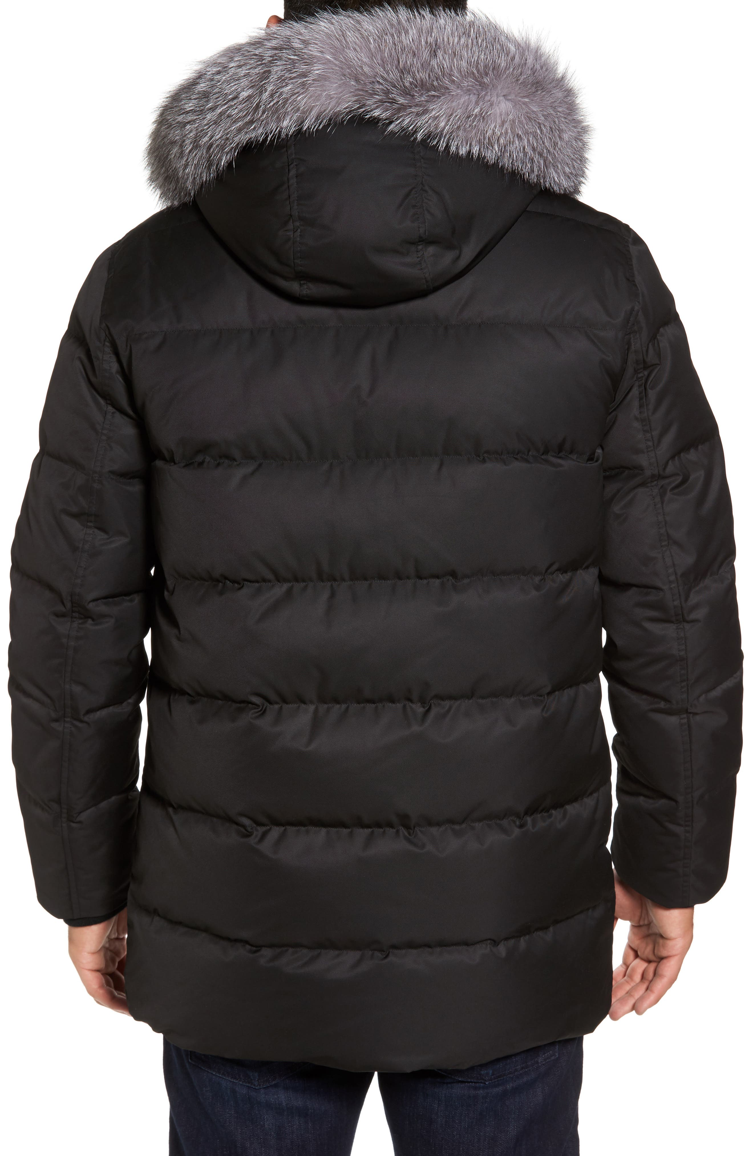 Alternate Image 2  - Andrew Marc Quilted Down Jacket with Genuine Fox Fur Trim