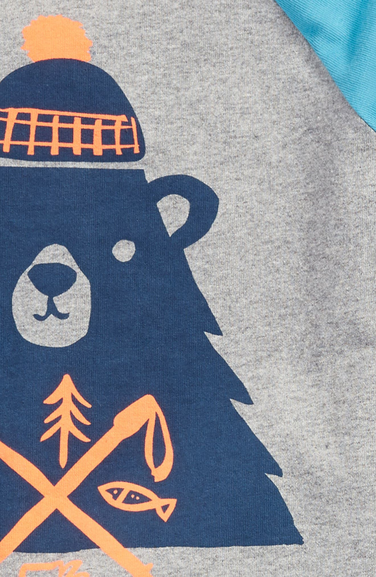 Alternate Image 2  - Tea Collection Munro Bear Graphic T-Shirt & Cargo Pants Set (Baby Boys)
