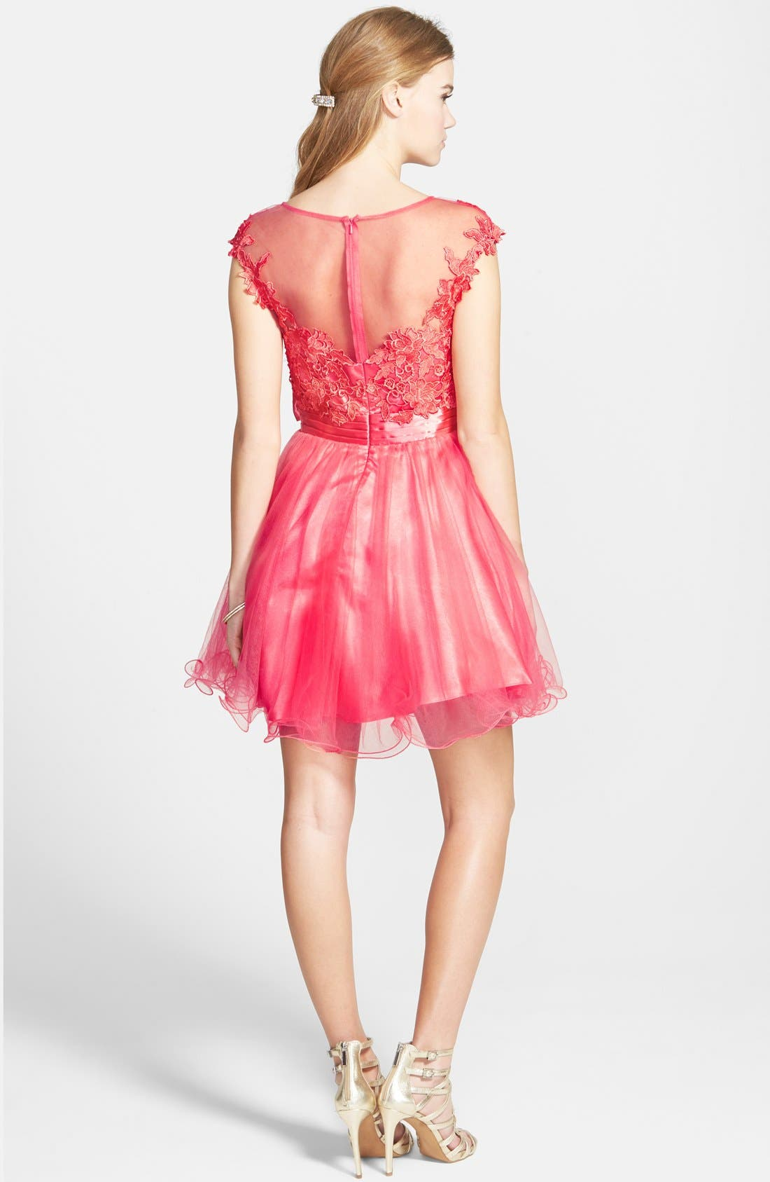 Alternate Image 2  - Sean Collection Lace Bodice Fit & Flare Dress