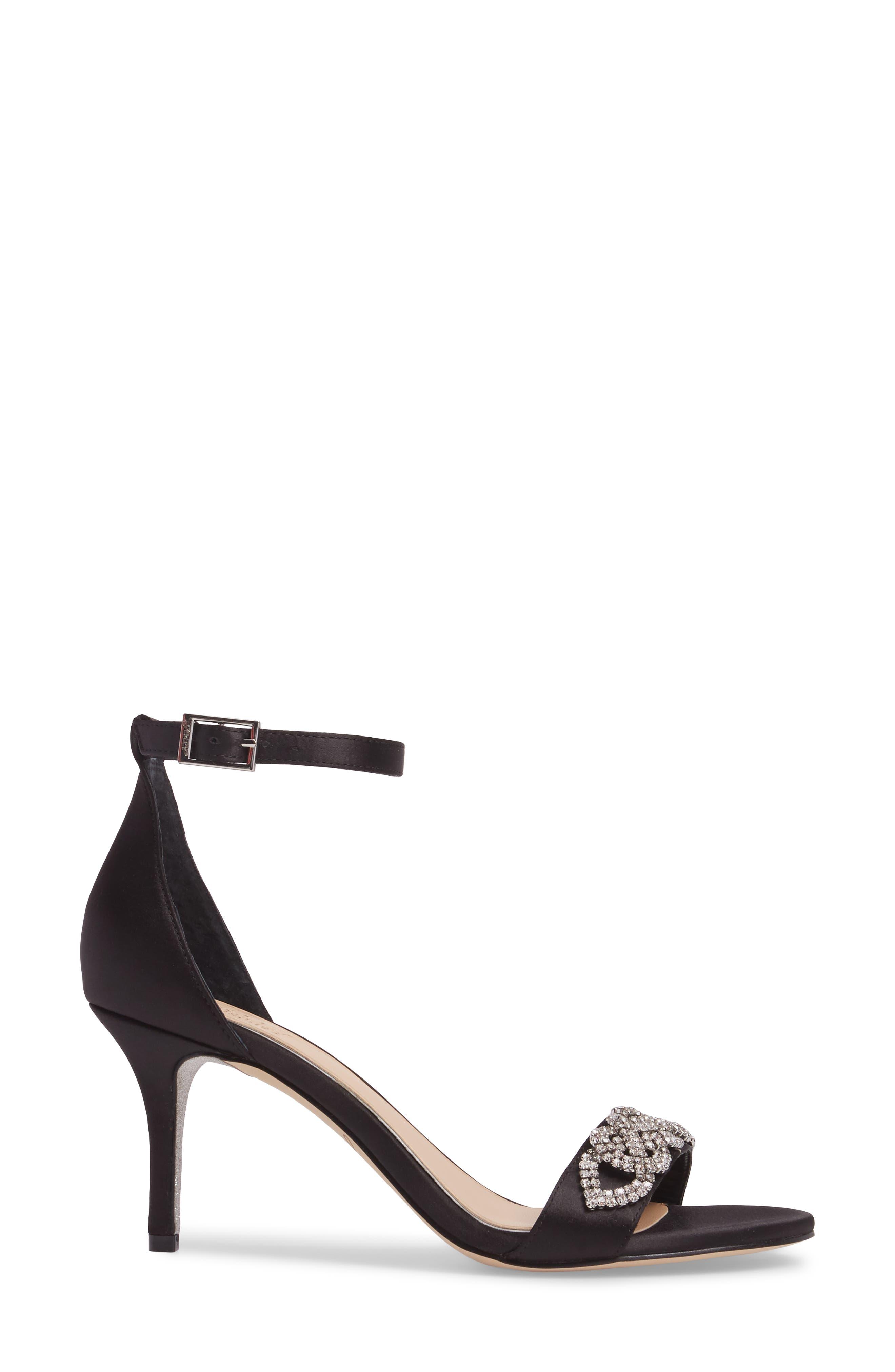 Alternate Image 3  - Jewel Badgley Mischka Alana Ankle Strap Sandal (Women)