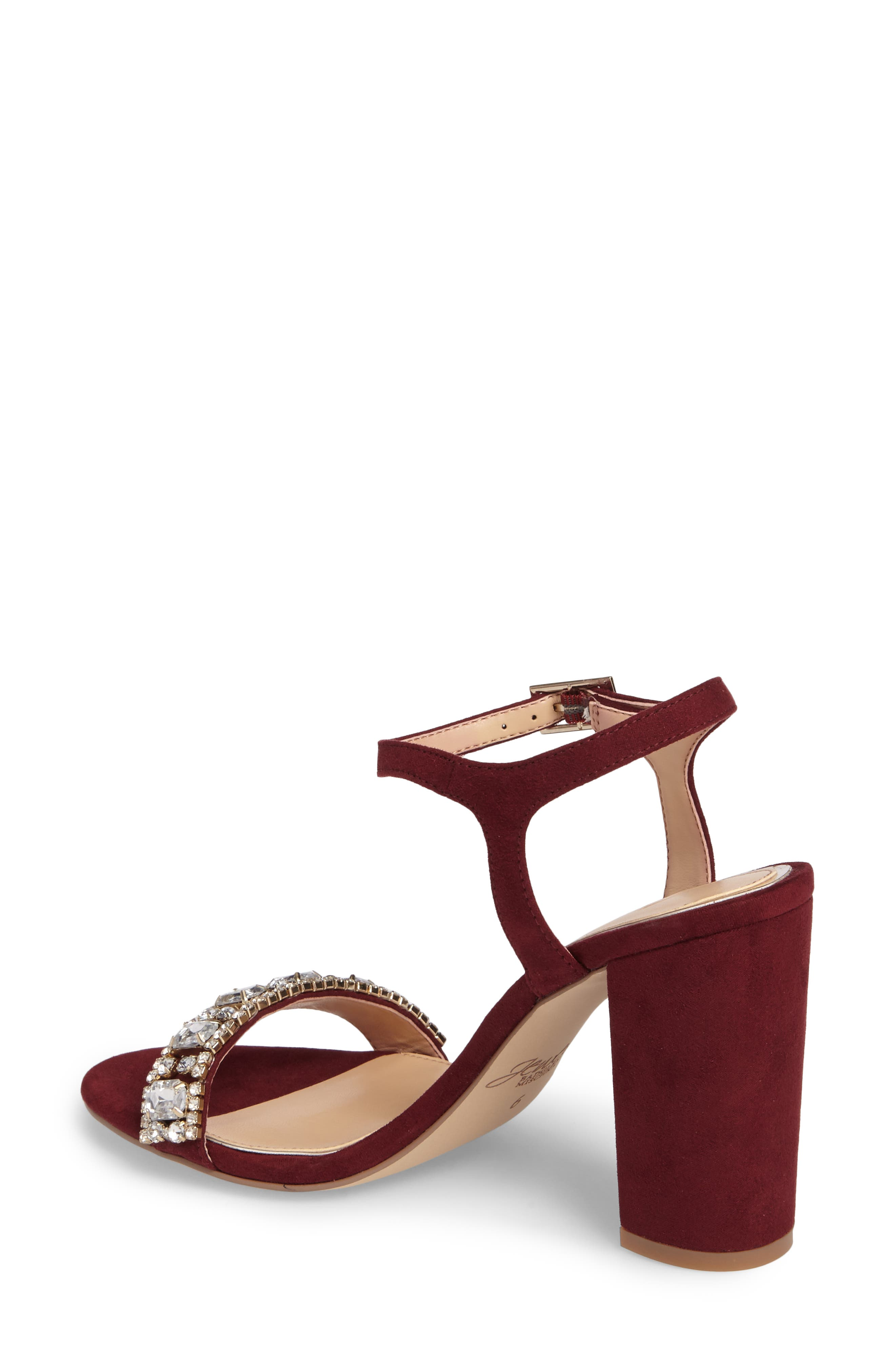 Alternate Image 2  - Jewel Badgley Mischka Hendricks Embellished Block Heel Sandal (Women)
