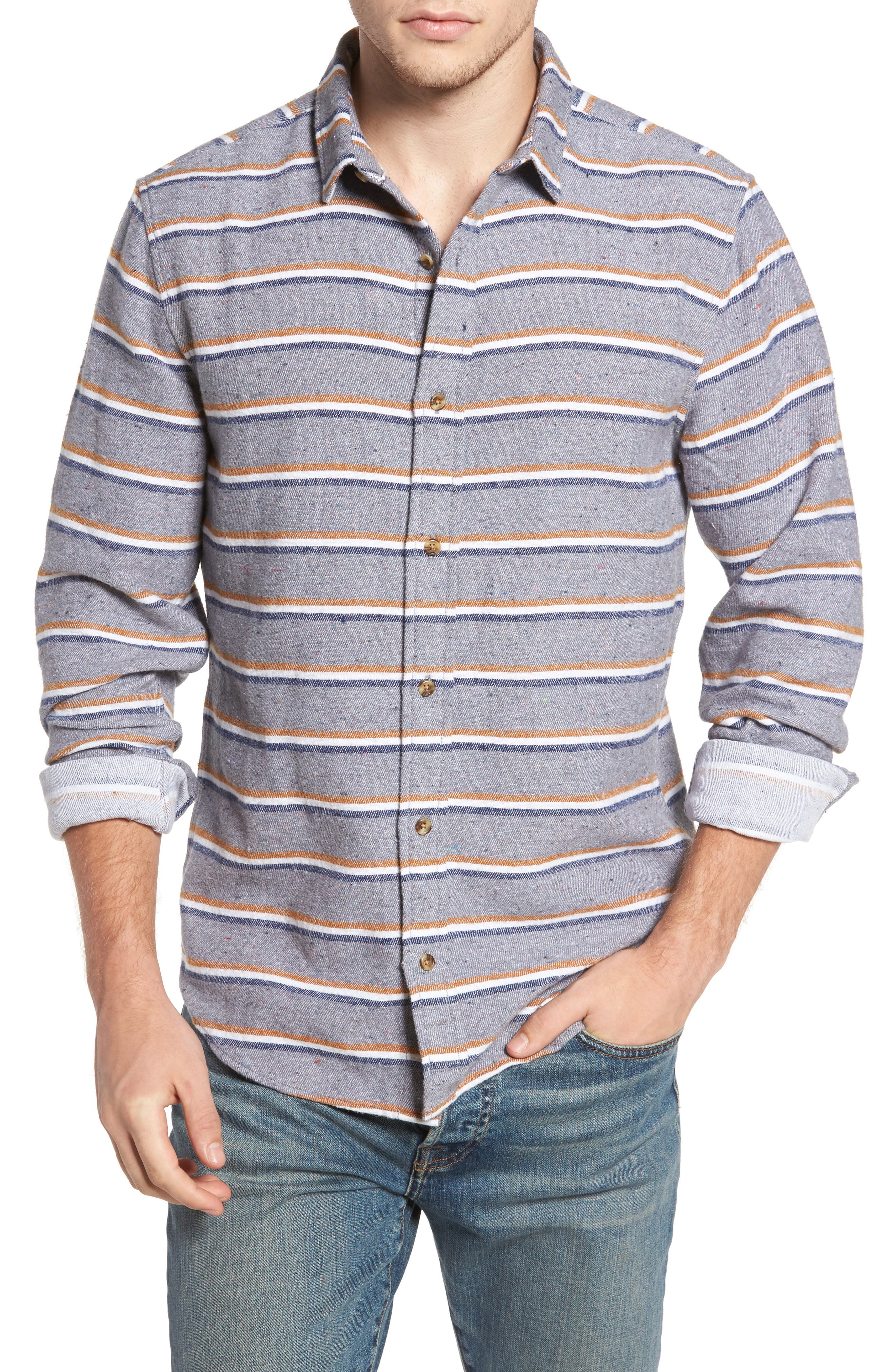 Alternate Image 1 Selected - 1901 Stripe Flannel Shirt