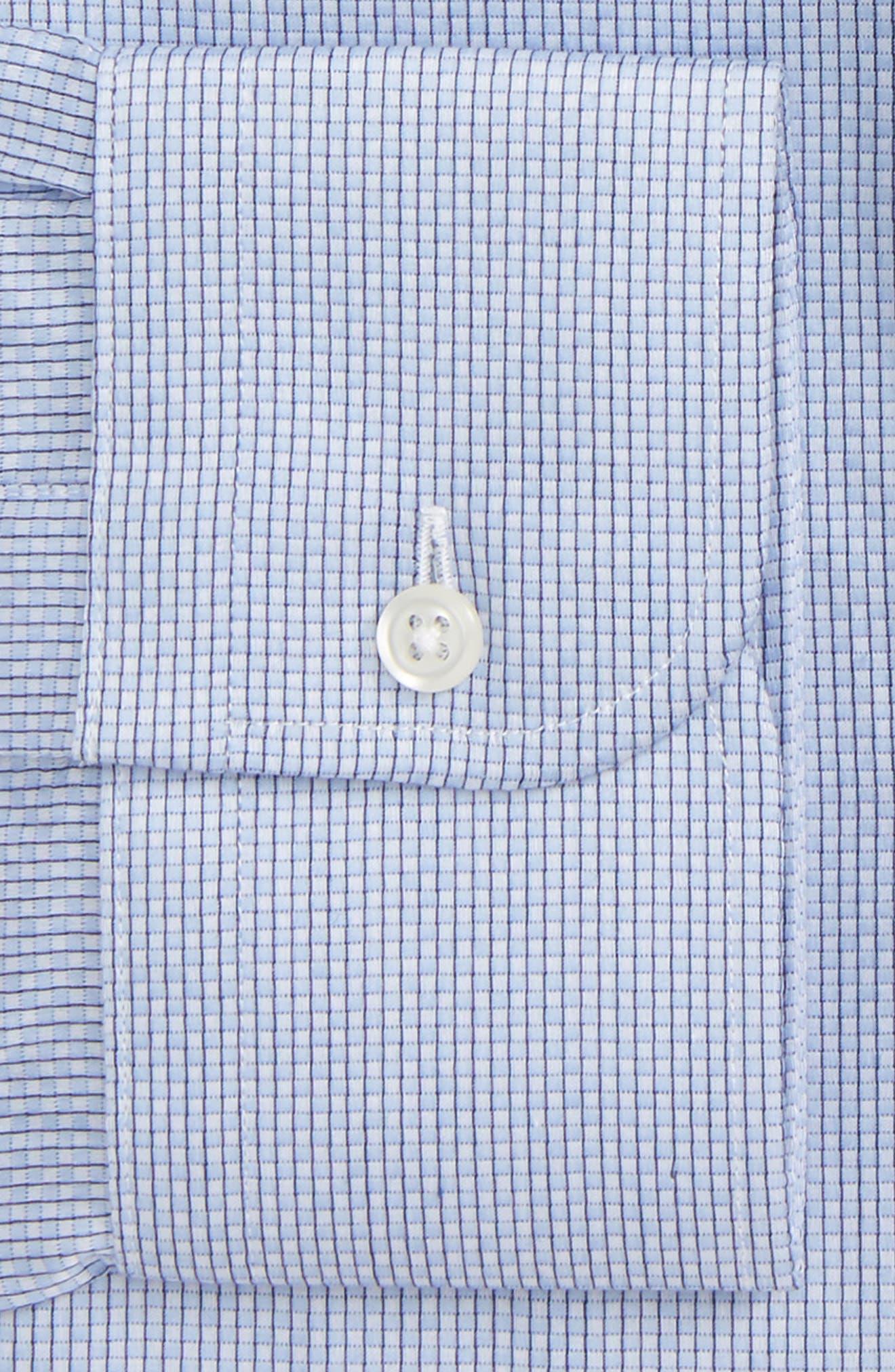 Classic Fit Check Dress Shirt,                             Alternate thumbnail 2, color,                             Blue Lustre