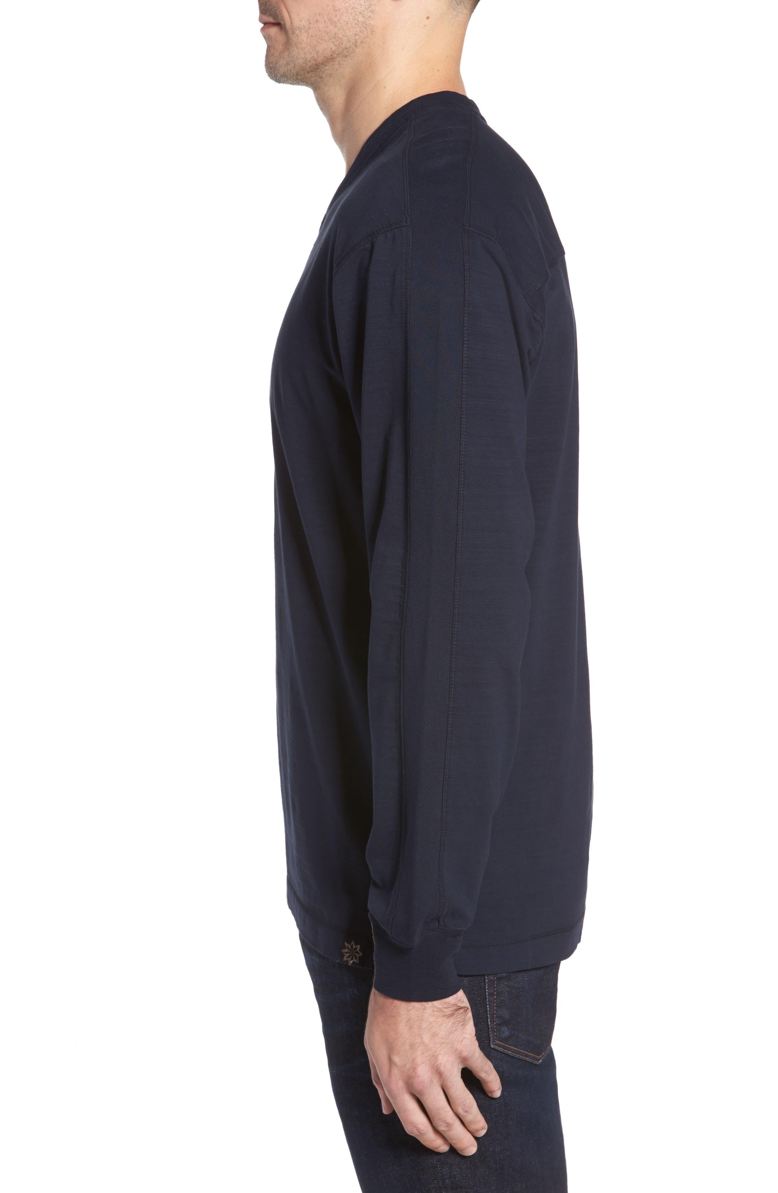 Vinn Slubbed Long Sleeve V-Neck T-Shirt,                             Alternate thumbnail 3, color,                             Ink