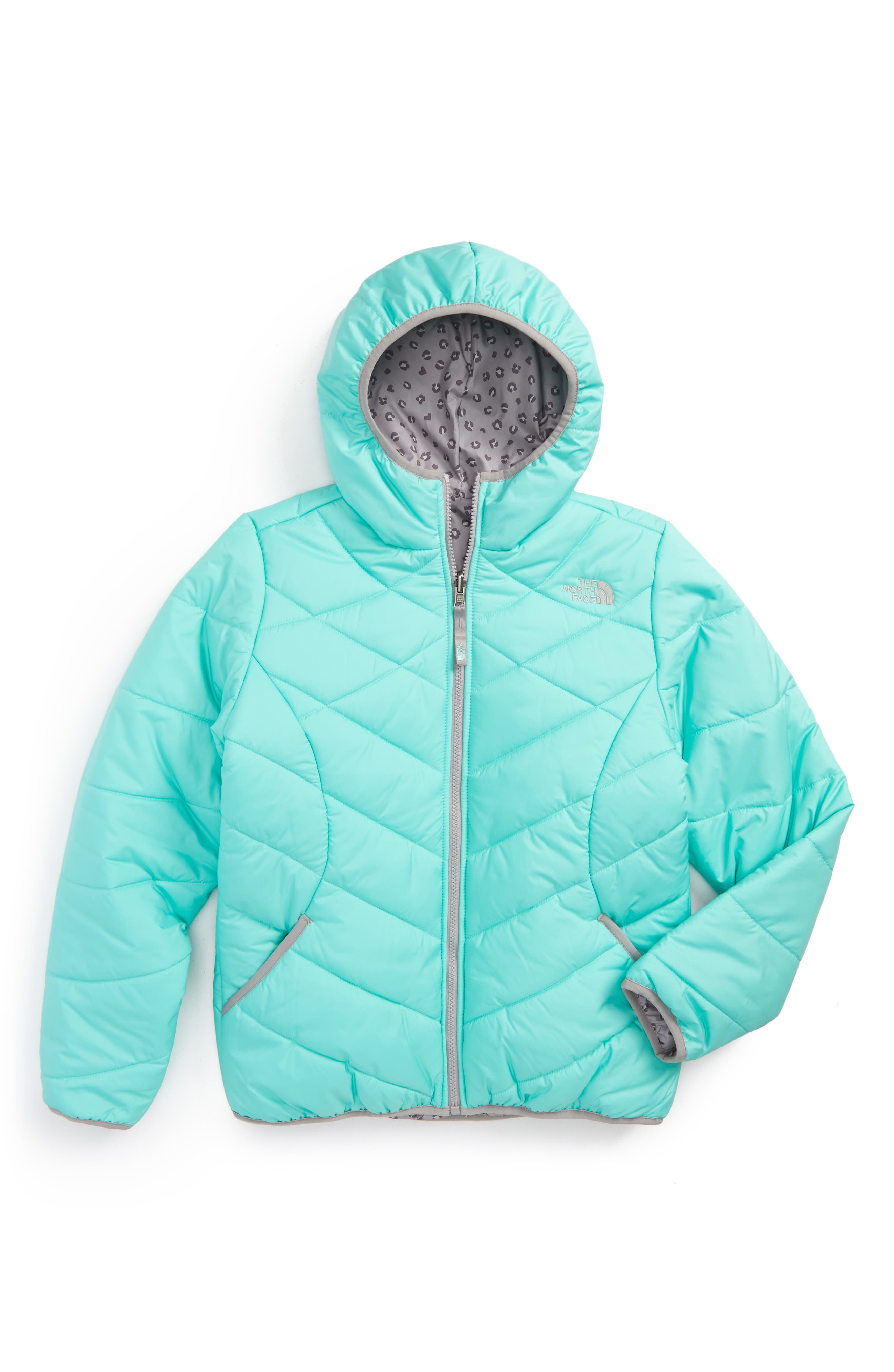 Main Image - The North Face Perrito Reversible Hooded Jacket (Little Girls & Big GIrls)