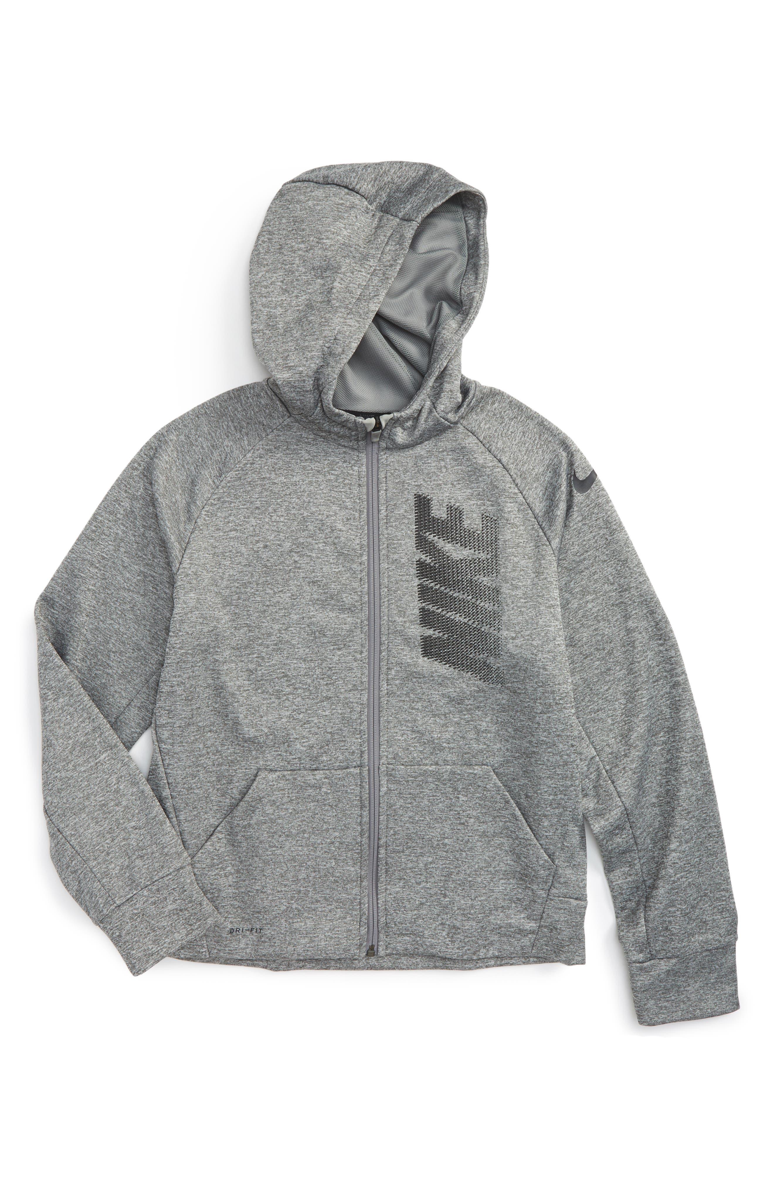 Nike Therma-FIT Logo Zip Hoodie (Little Boys & Big Boys)
