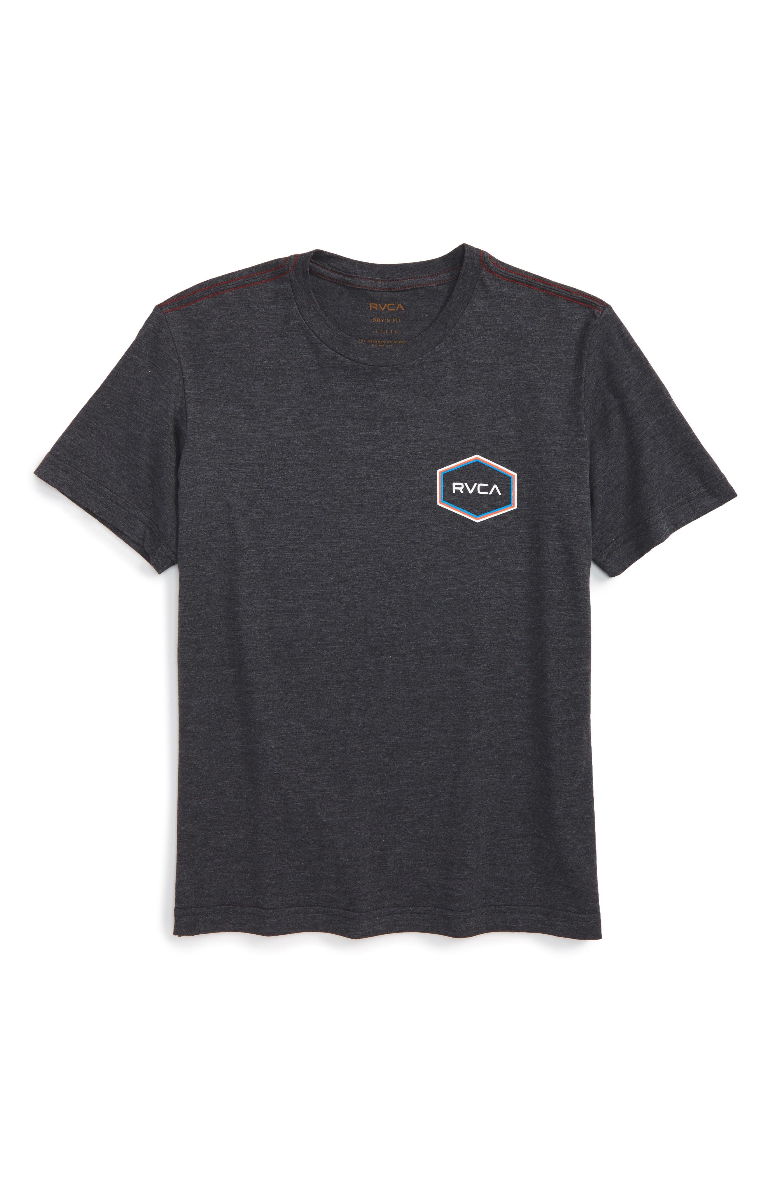 Triple Hex Logo Graphic T-Shirt,                         Main,                         color, Black
