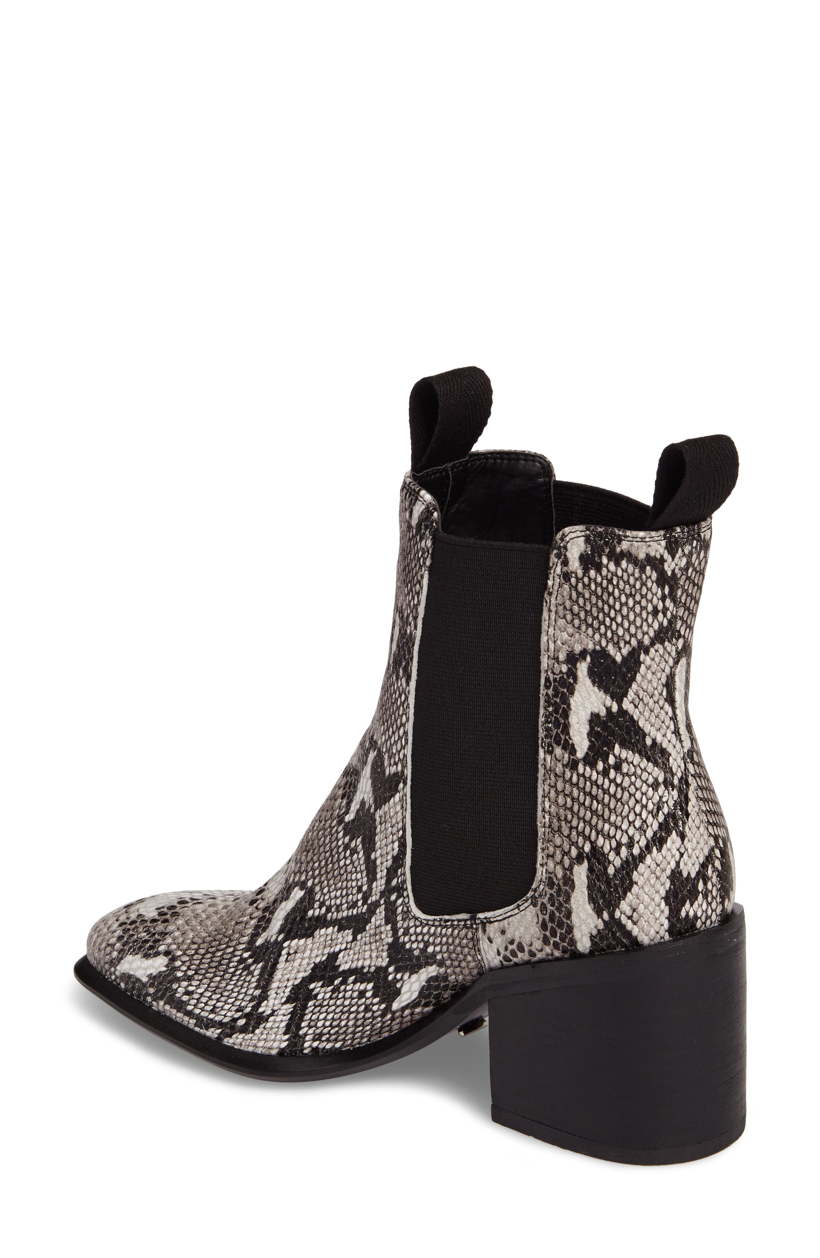 Hampton Bootie,                             Alternate thumbnail 2, color,                             Natural Snake Print Leather
