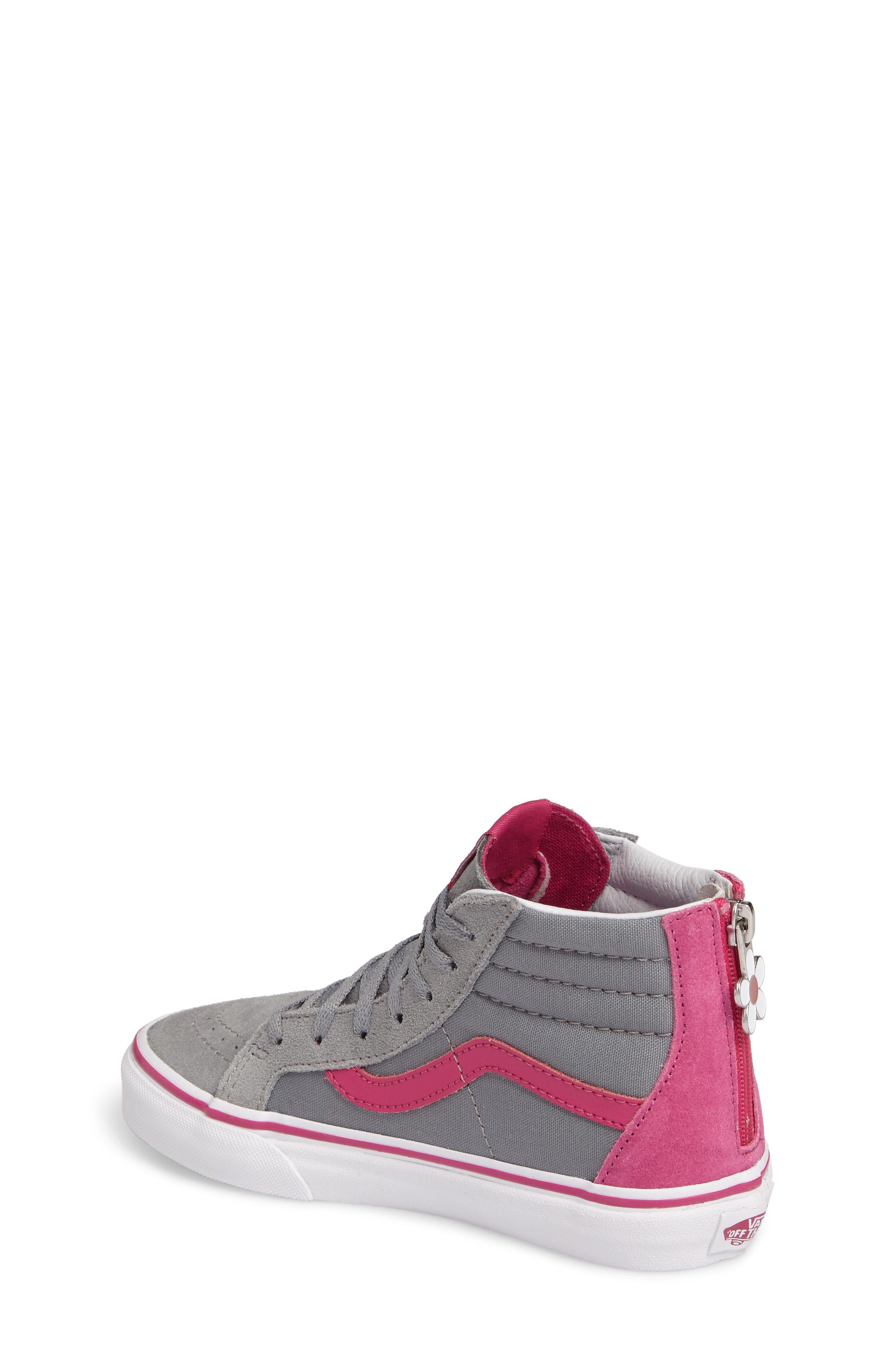 Alternate Image 2  - Vans SK8-Hi Zip-Up Sneaker (Toddler, Little Kid & Big Kid)