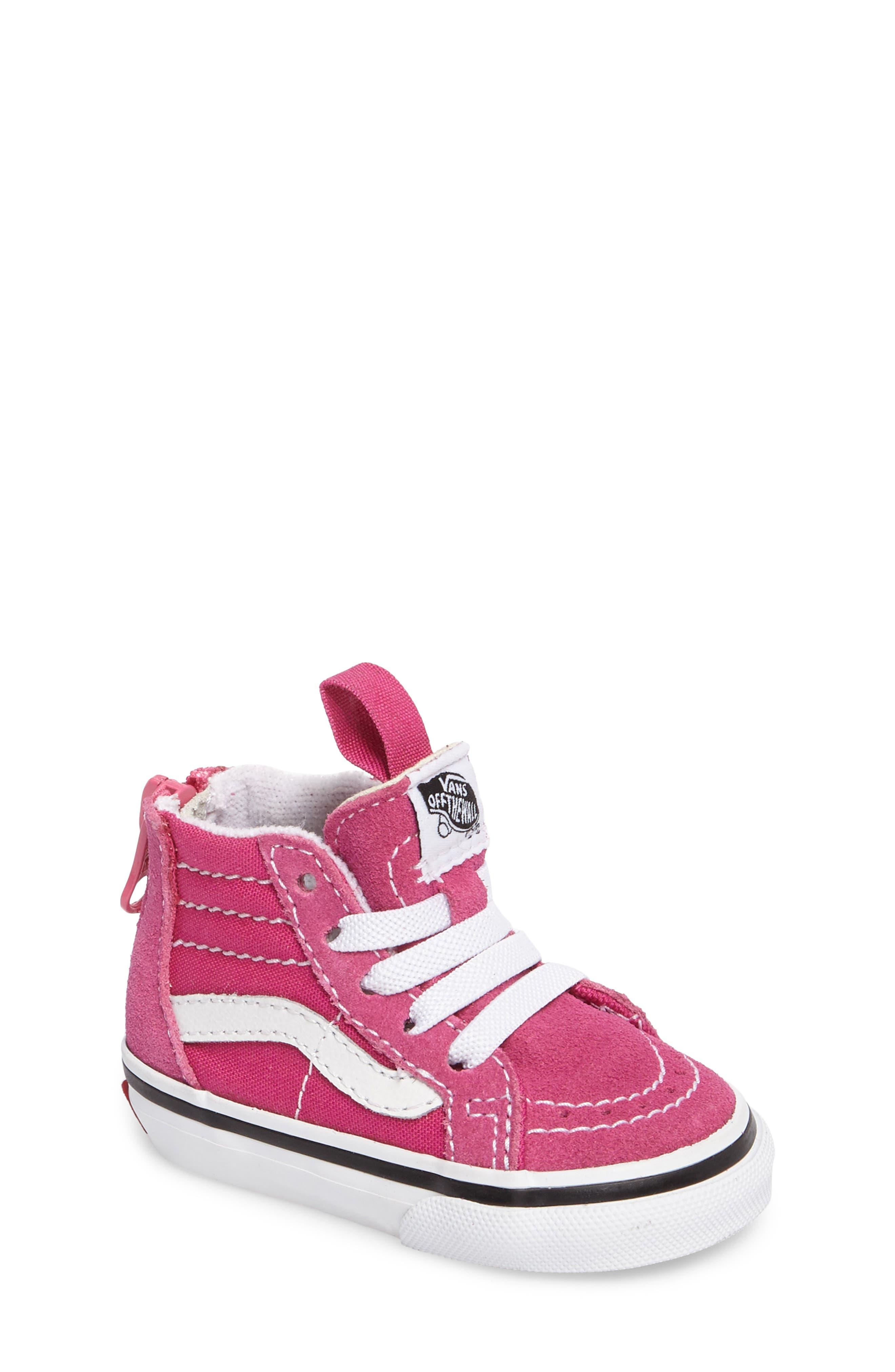 Alternate Image 1 Selected - Vans Sk8-Hi Zip Sneaker (Baby, Walker, Toddler, Little Kid & Big Kid)