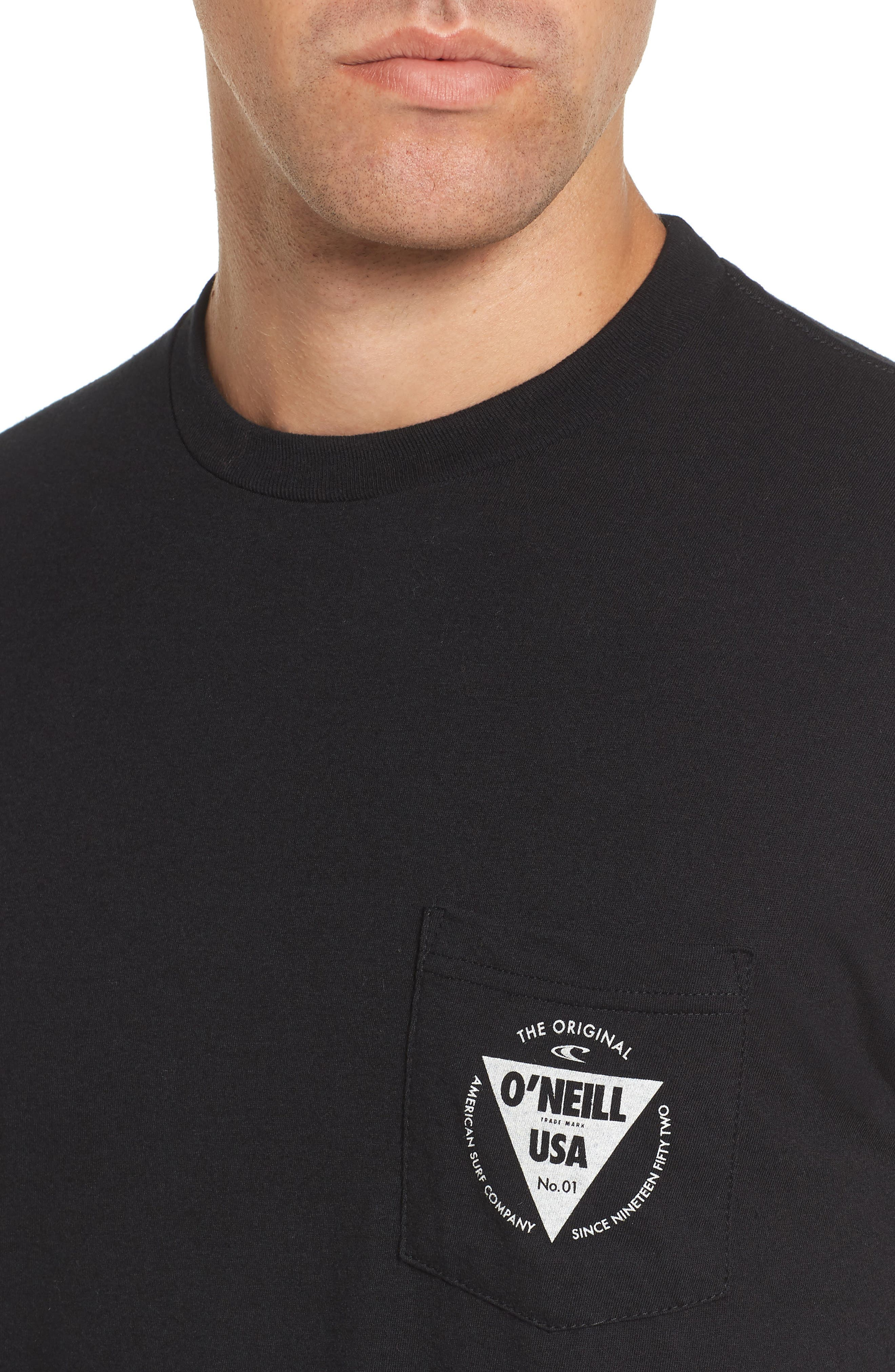 Diver Graphic Pocket T-Shirt,                             Alternate thumbnail 4, color,                             Heather Black