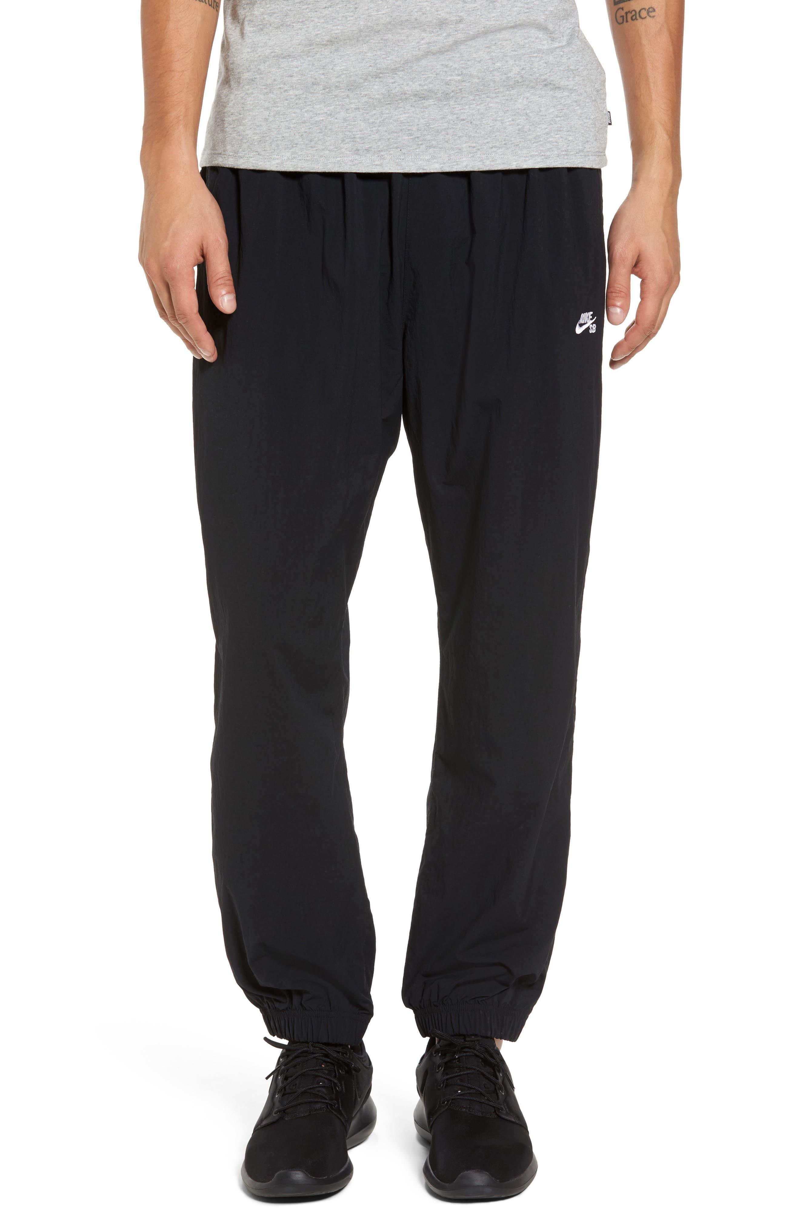 Flex Woven Pants,                             Main thumbnail 1, color,                             Black/ White